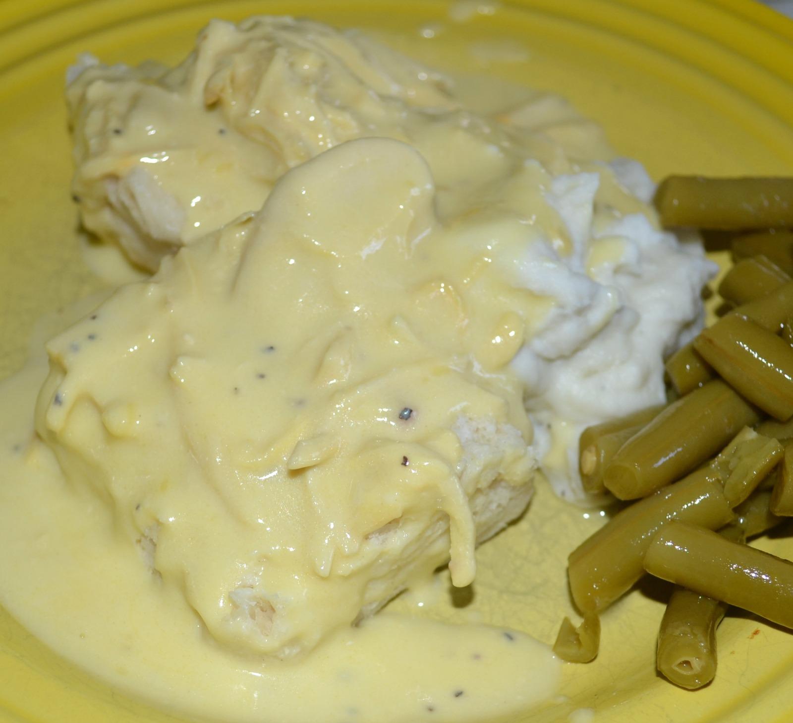 creamed chicken, biscuits, rotissere chicken, comfort food
