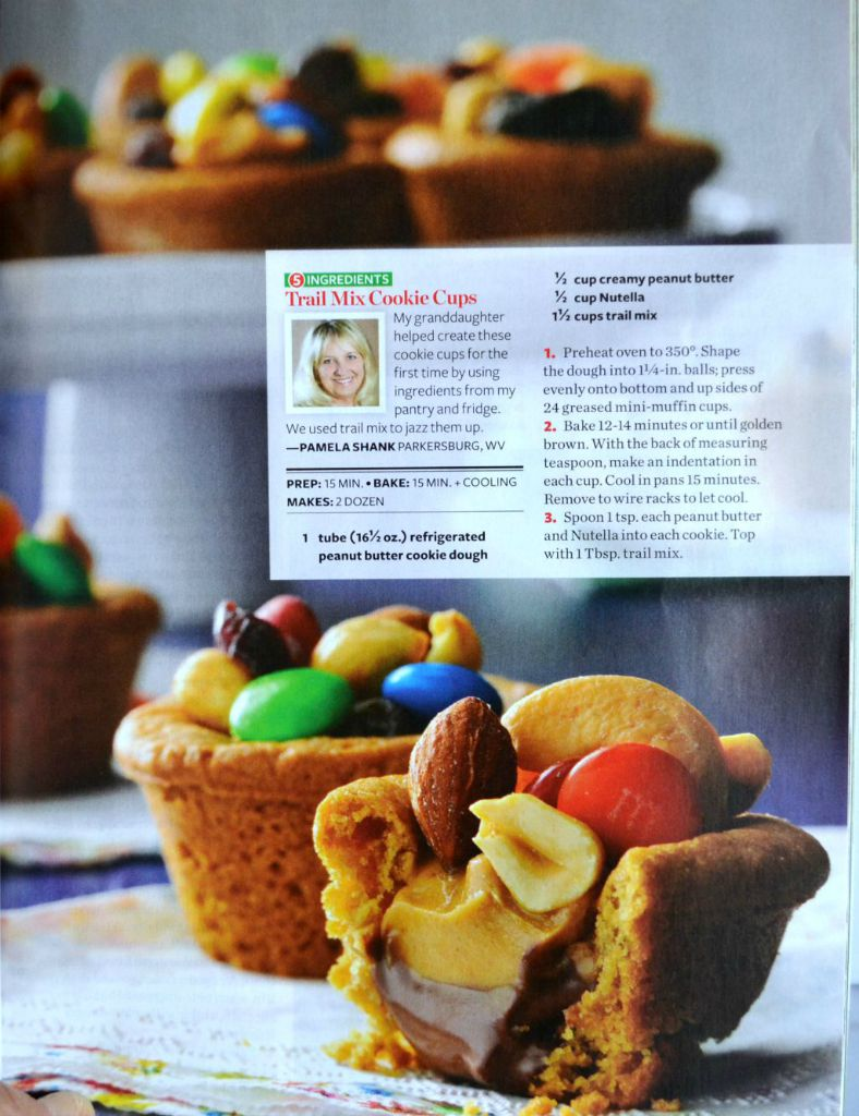 trail mix, cookie cups, nutella, peanut butter cookie cups