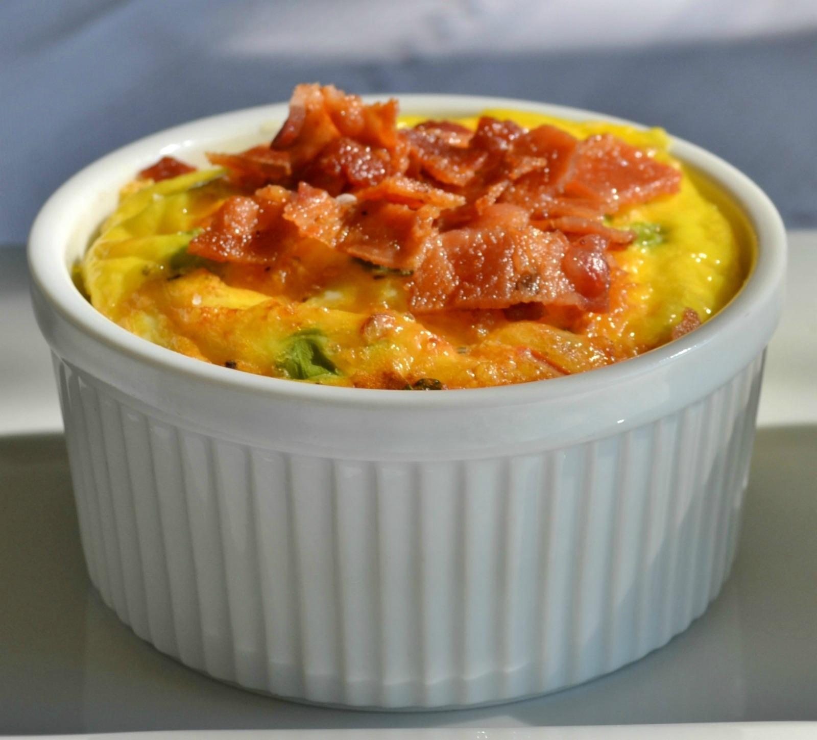 breakfast souffle, ramekins,
