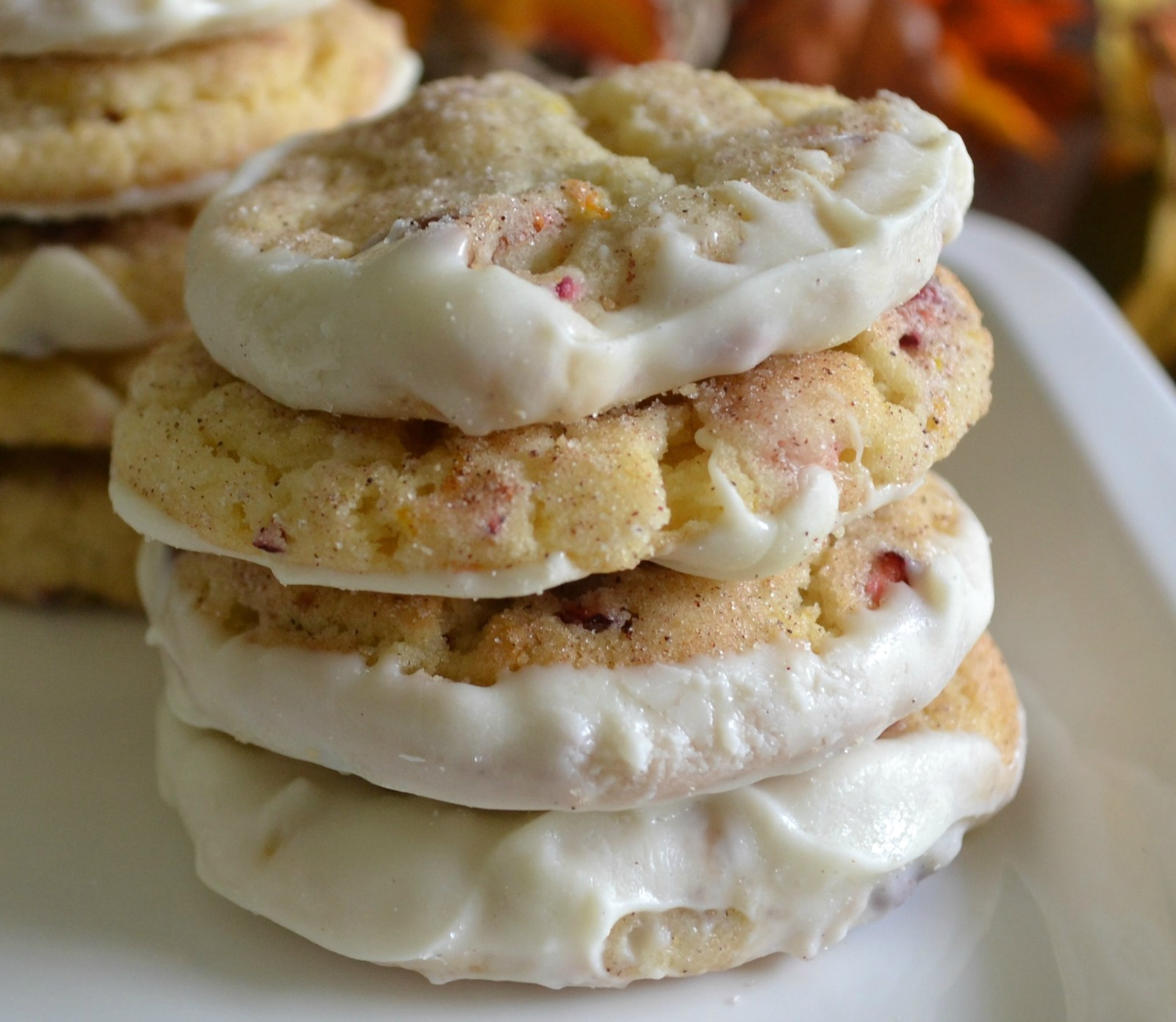 cookies, fall baking, cranberries, orange, pecans