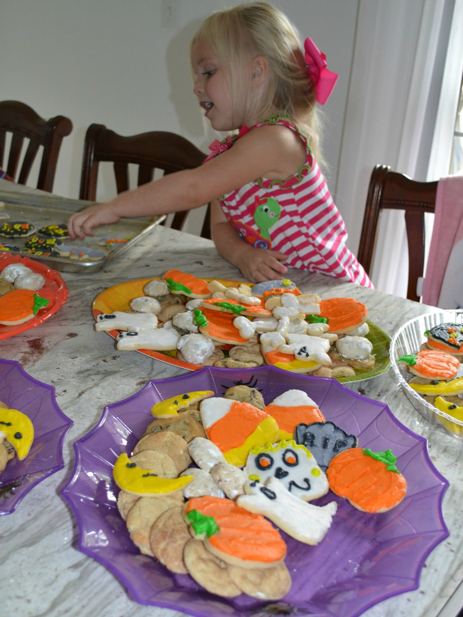 halloween cookies, grandkids cooking