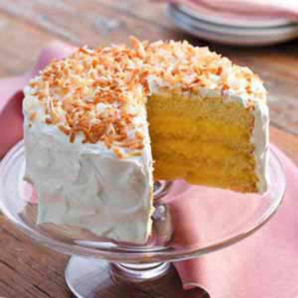 coconut cake, pudding cake