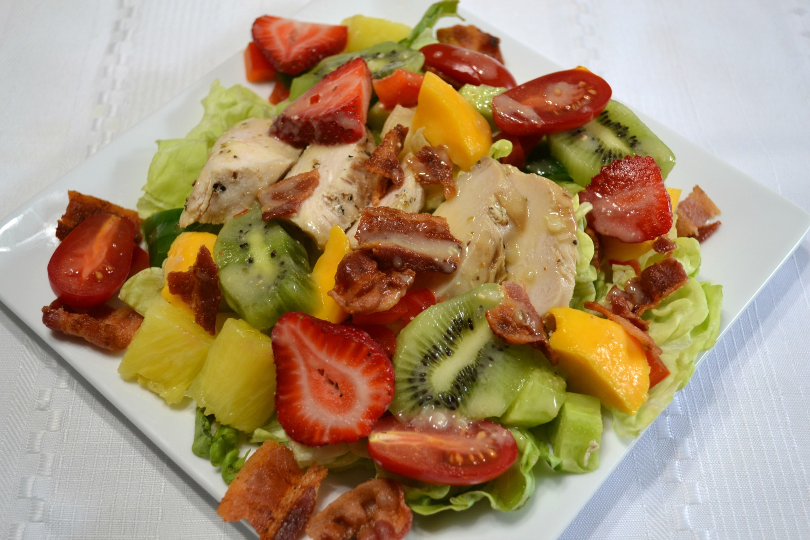 A colorful, light salad that tastes so refreshing after a heavy Thanksgiving dinner. Great way to use leftover turkey.thanksgiving, leftovers, cobb salad