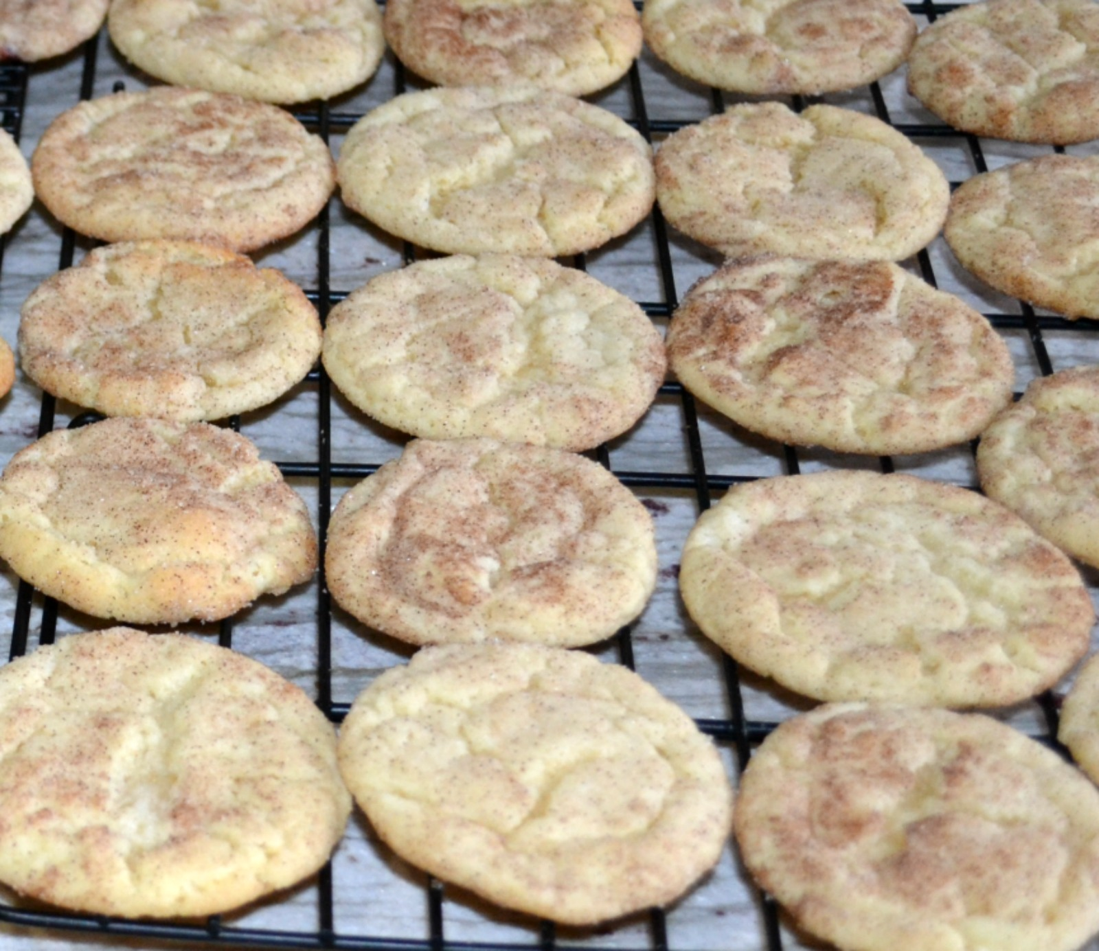 snickerdoodles, cookies, downsized baking