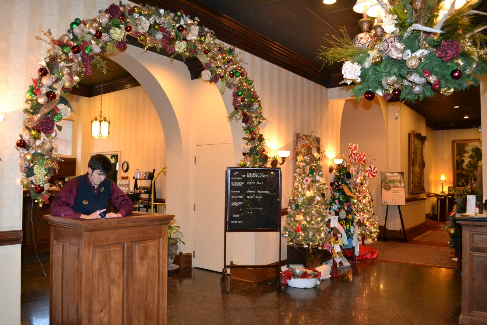 christmas trees, blennerhassett hotel