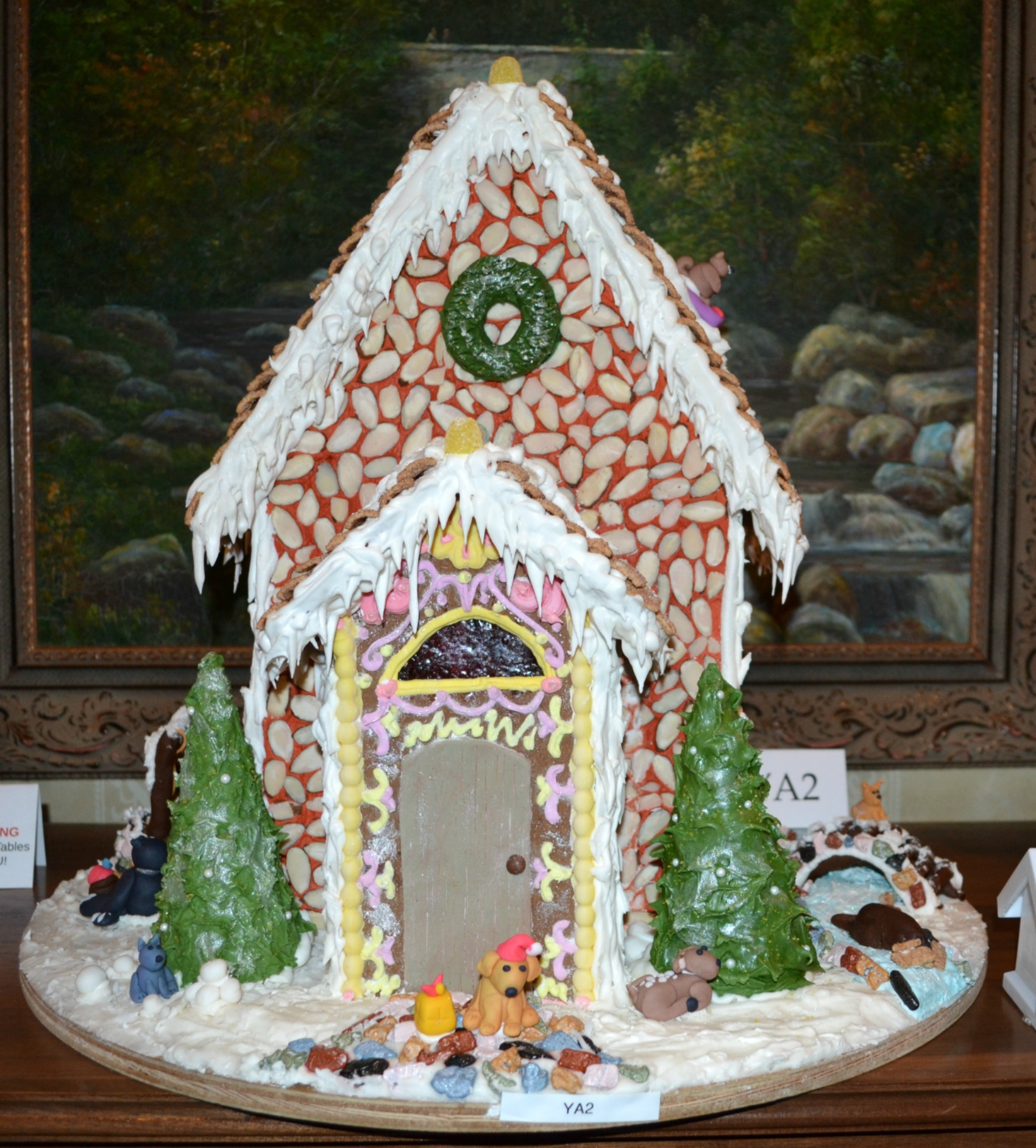 gingerbread houses, christmas