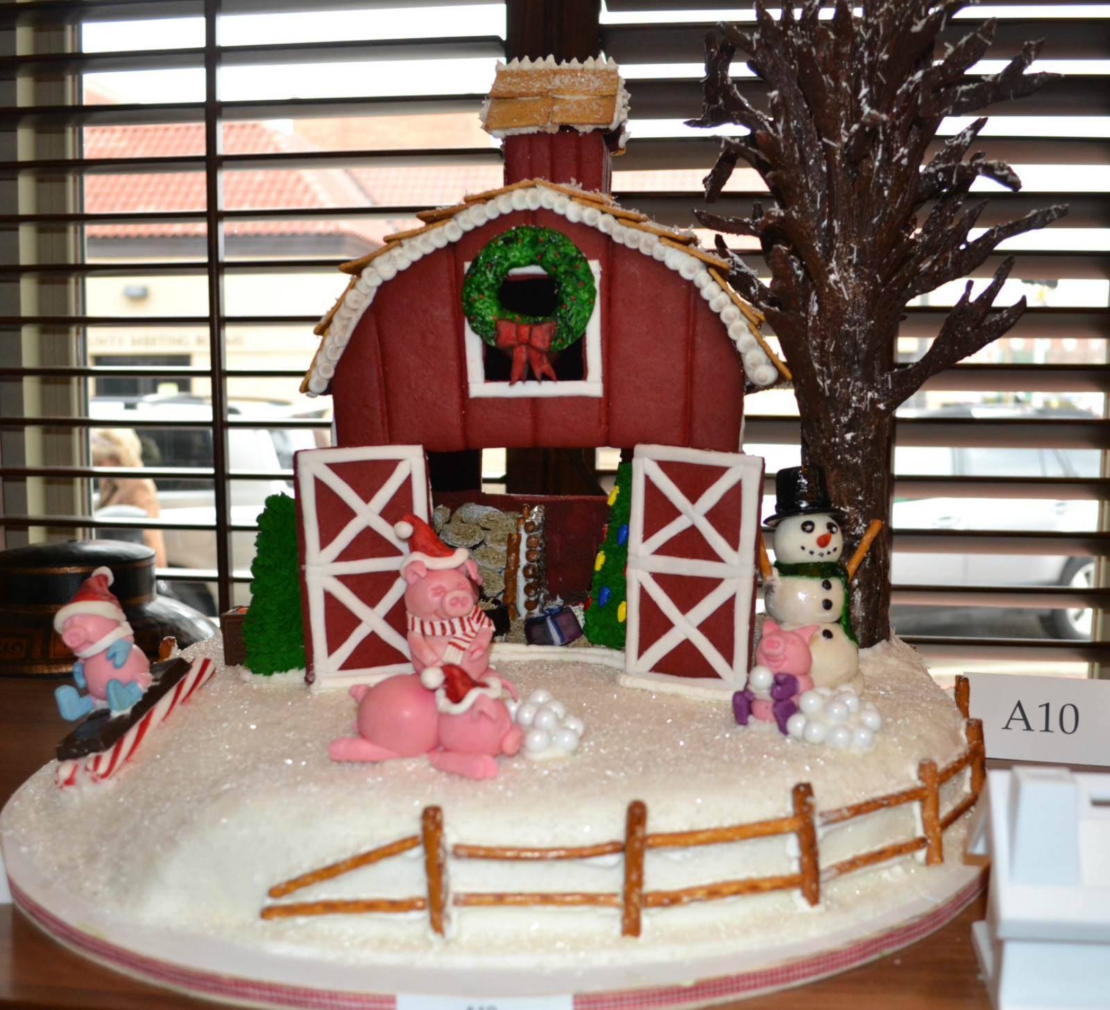 display of gingerbread houses