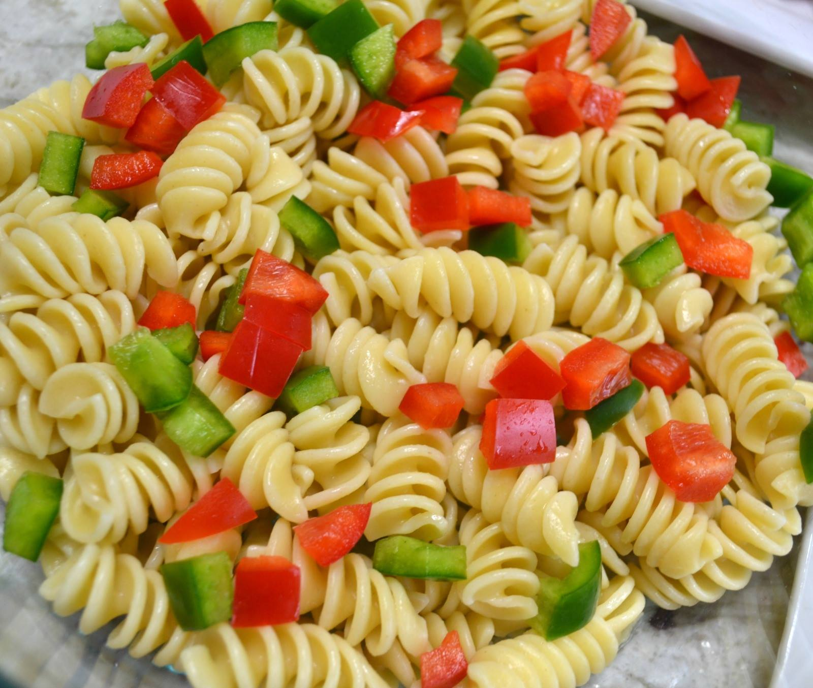 pasta salad, ham, salami, cooking for 2, downsized cooking