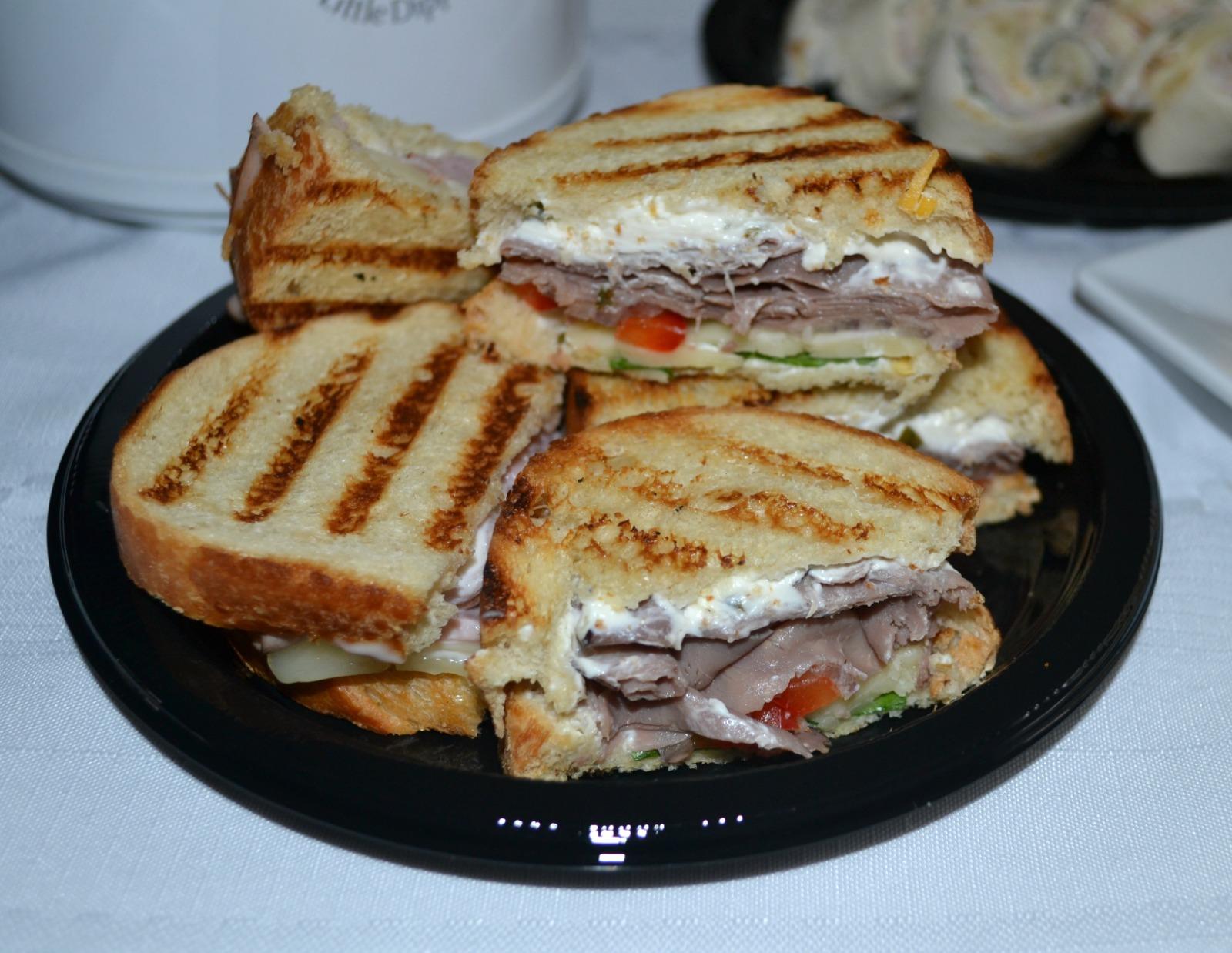 roast beef panini, game day snacks