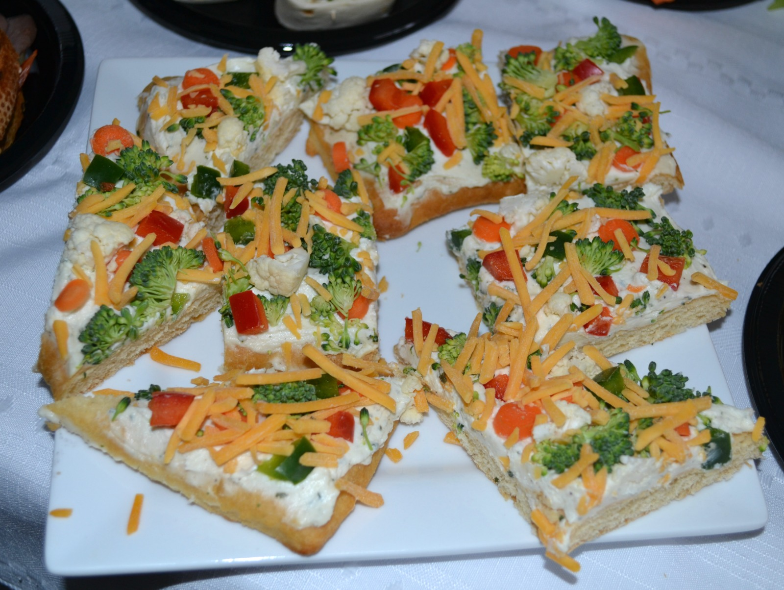 game day snacks, football foods, vegetable pizza