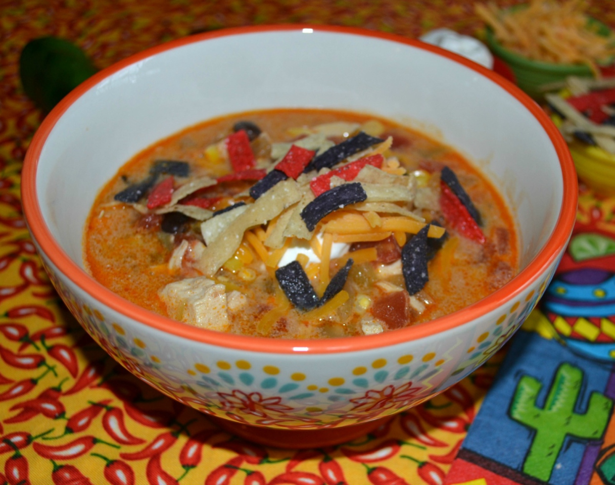 A spicy chicken enchilada soup created for 2. Perfect for the winter weather.