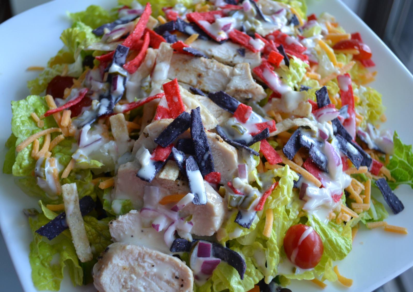 southwest chicken salad, jalapenos, chicken