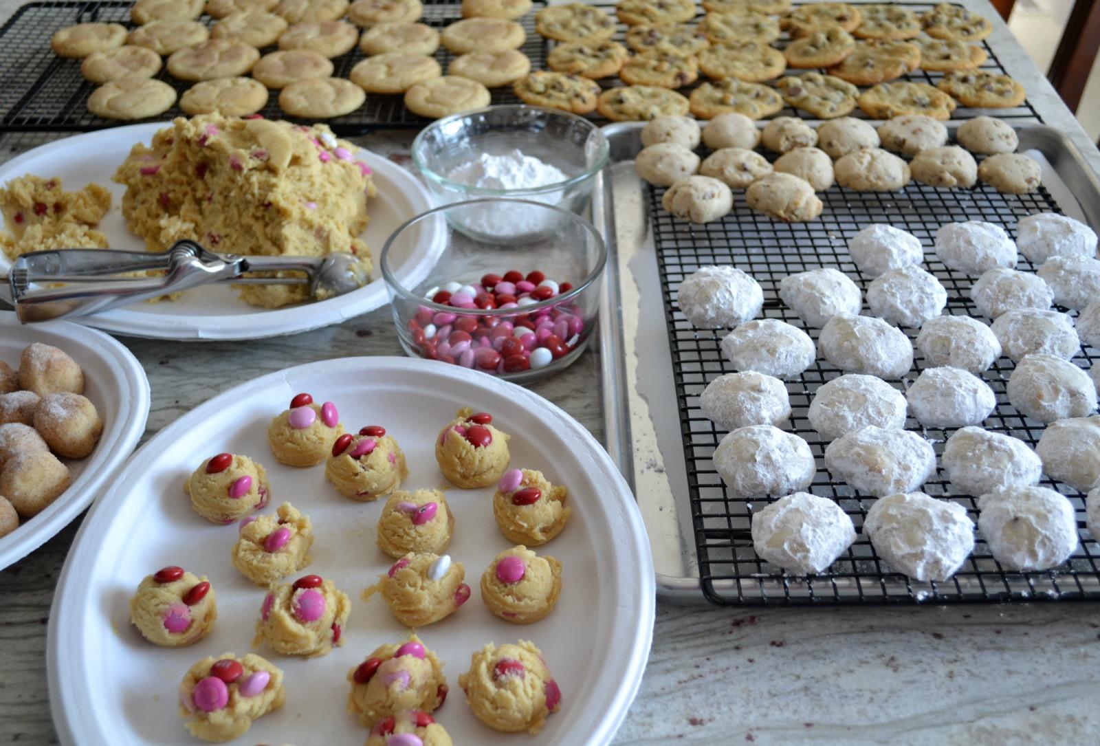 valentine's day, cookie baking, decorated sugar cookies