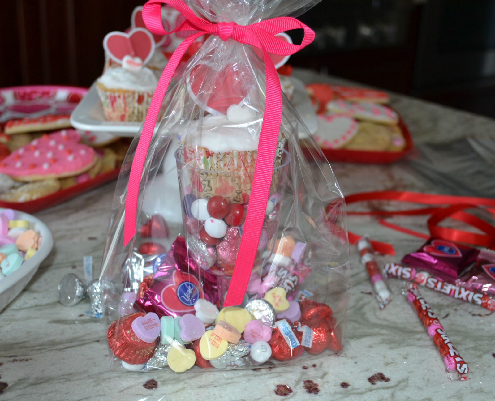 candy treat bags, valentine's day