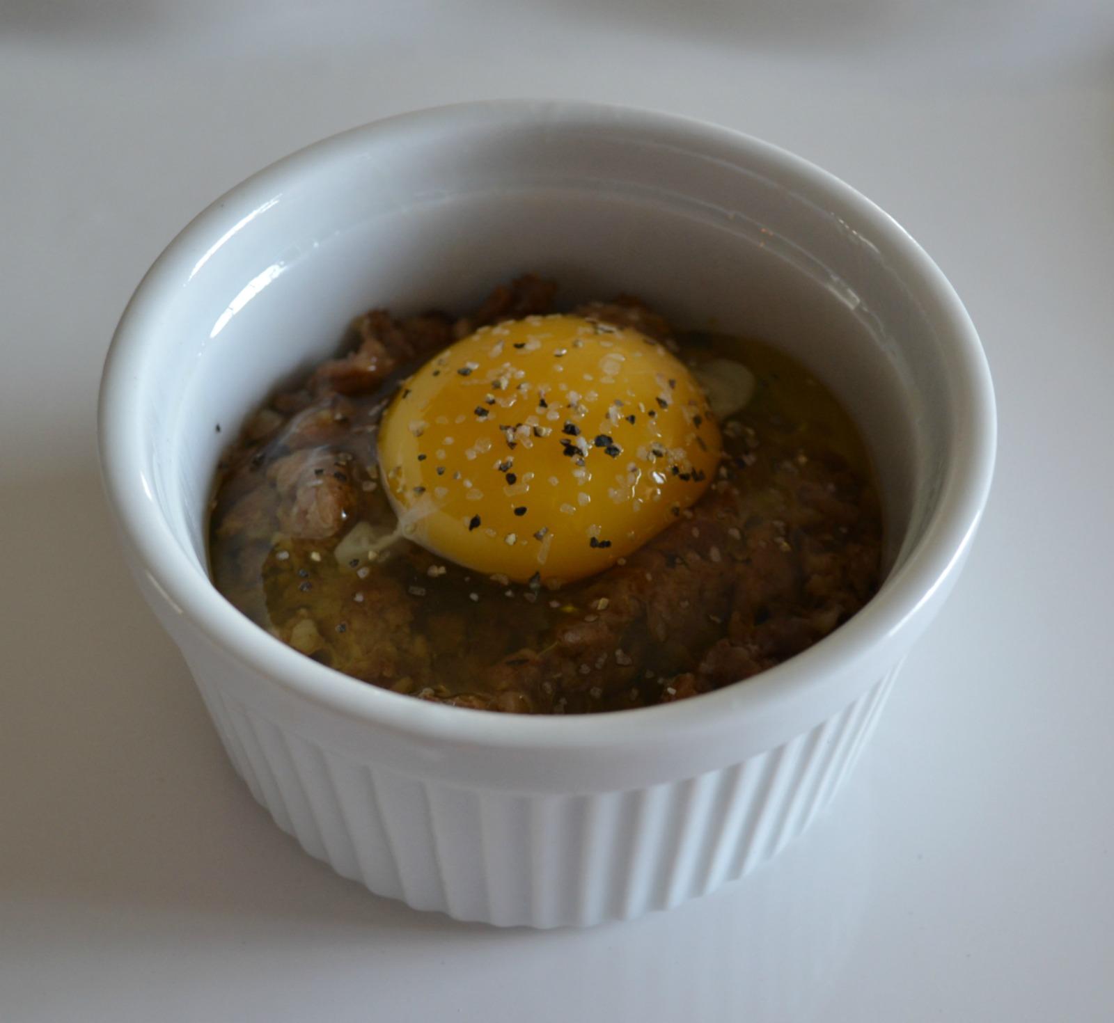 breakfast, baked eggs, sausage, ramekin, st patrick's day