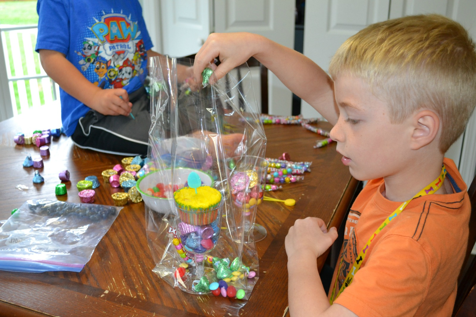 easter treats, cookie bags