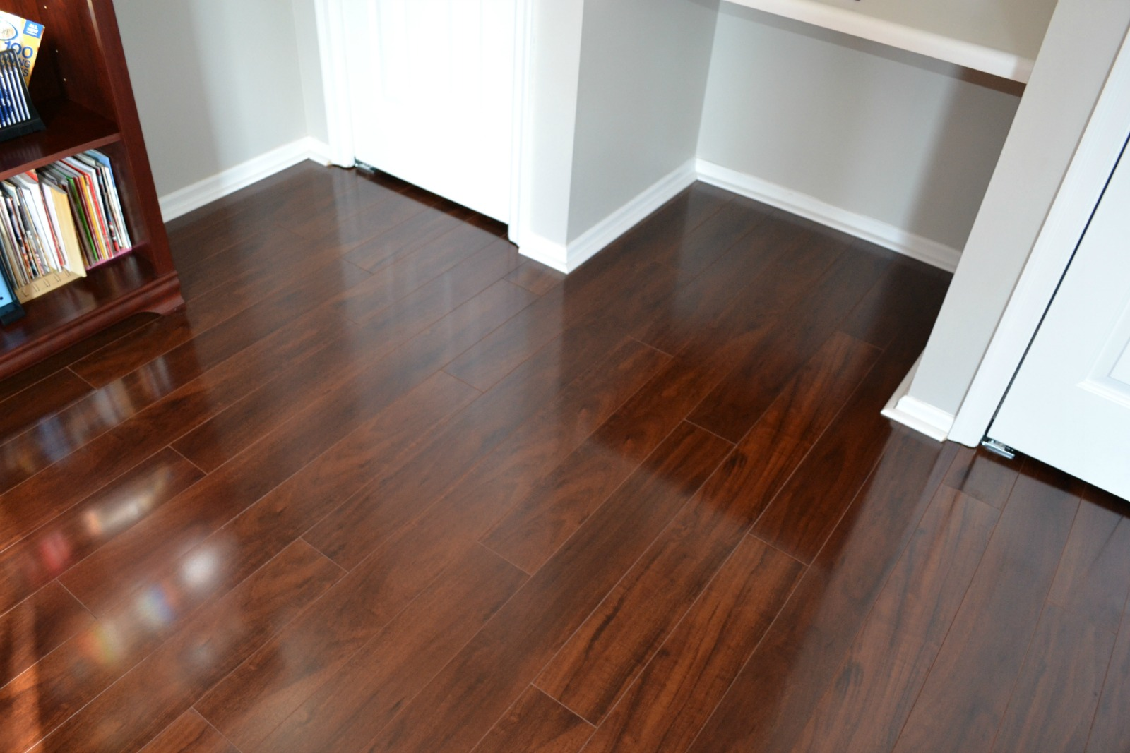 laminate floor, office remodel, spring project