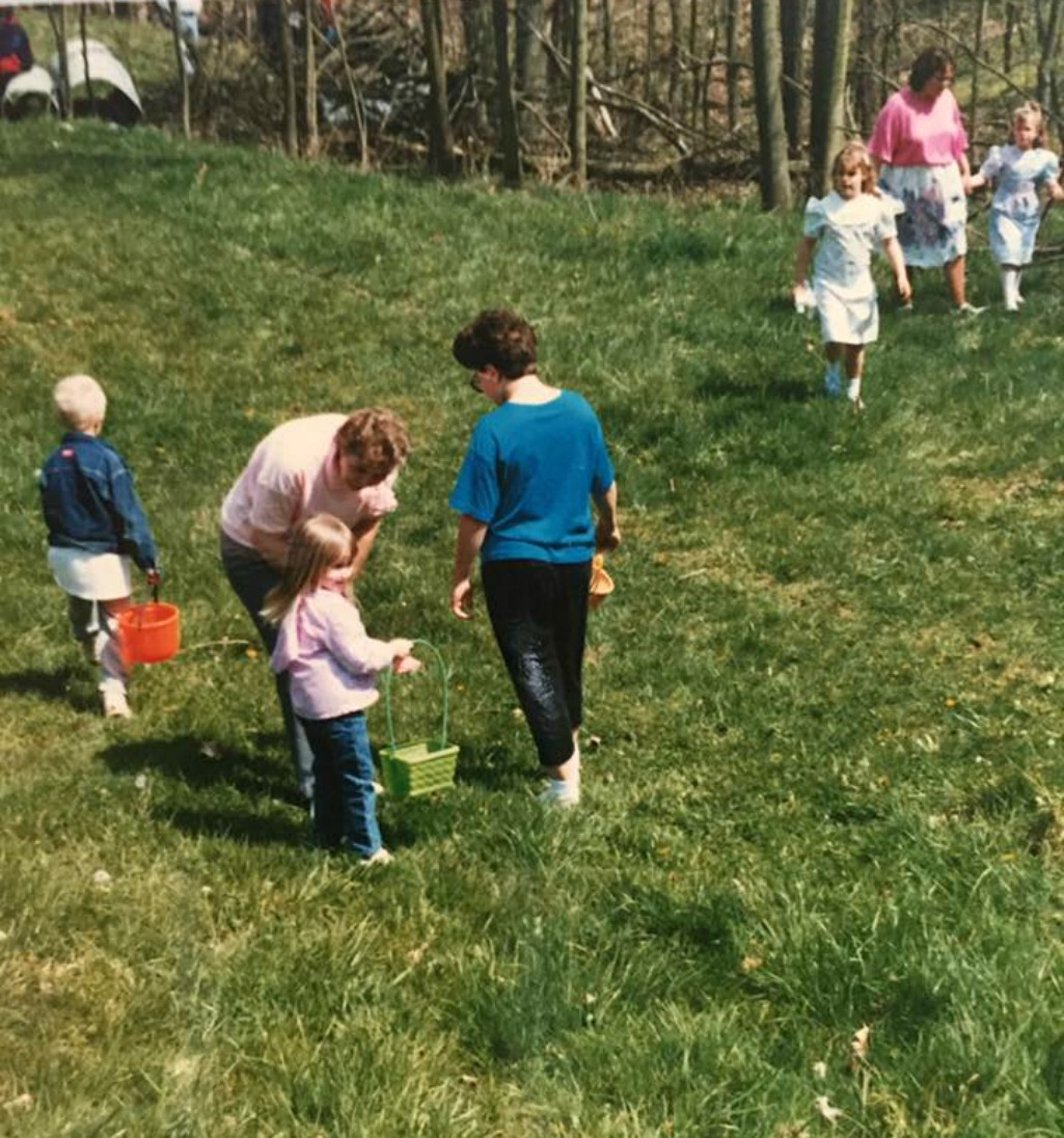 Easter egg hunts and special memories.