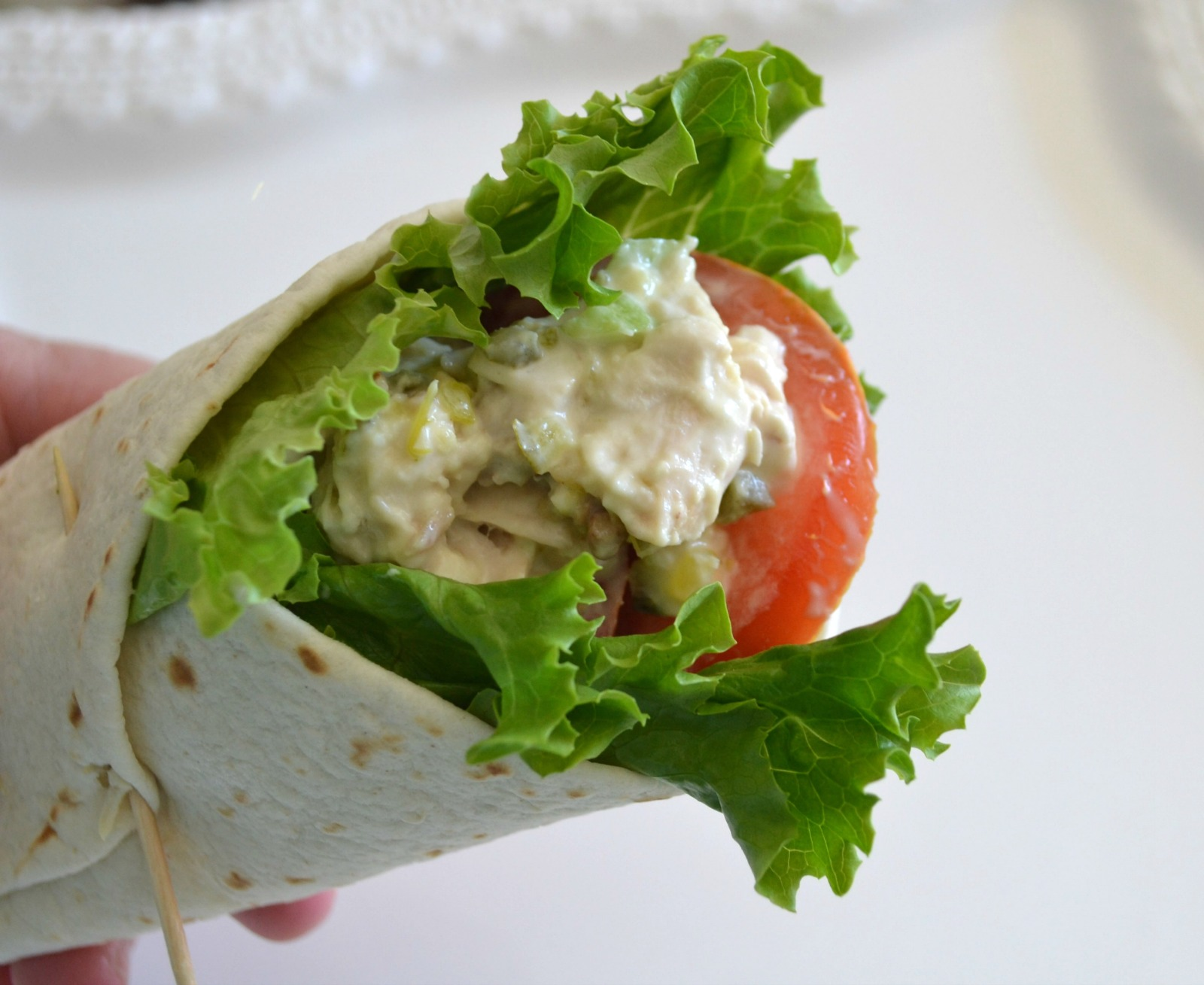 chicken salad, honey, pecans, rotissere chicken, chicken salad wrap