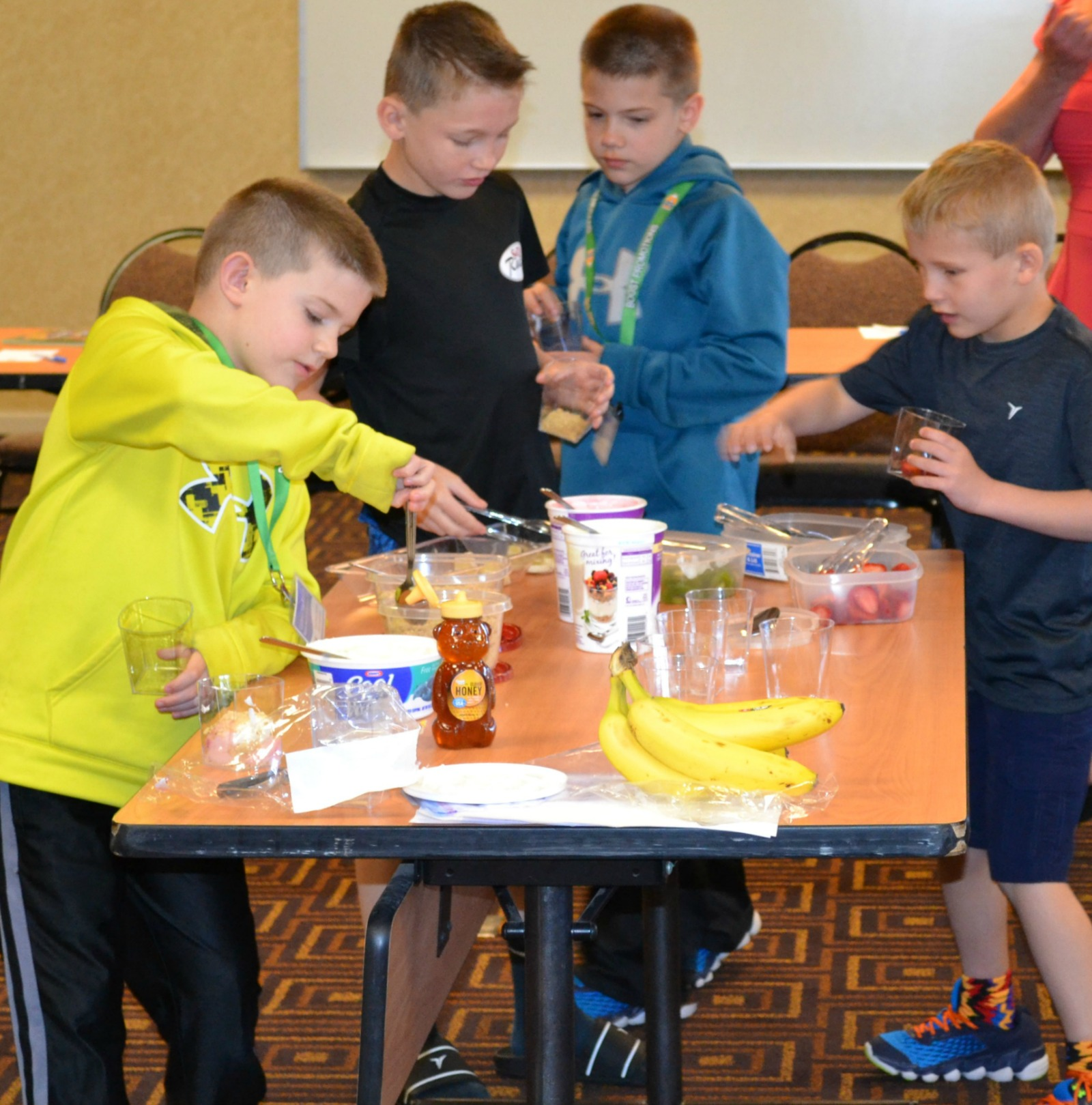 parfait bar, healthy snacks, pta workshop