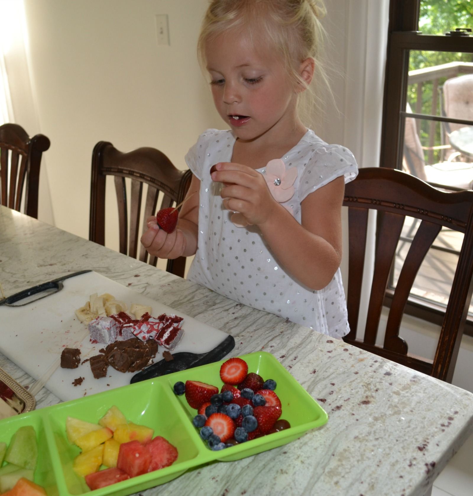 dessert kabobs, kids cooking