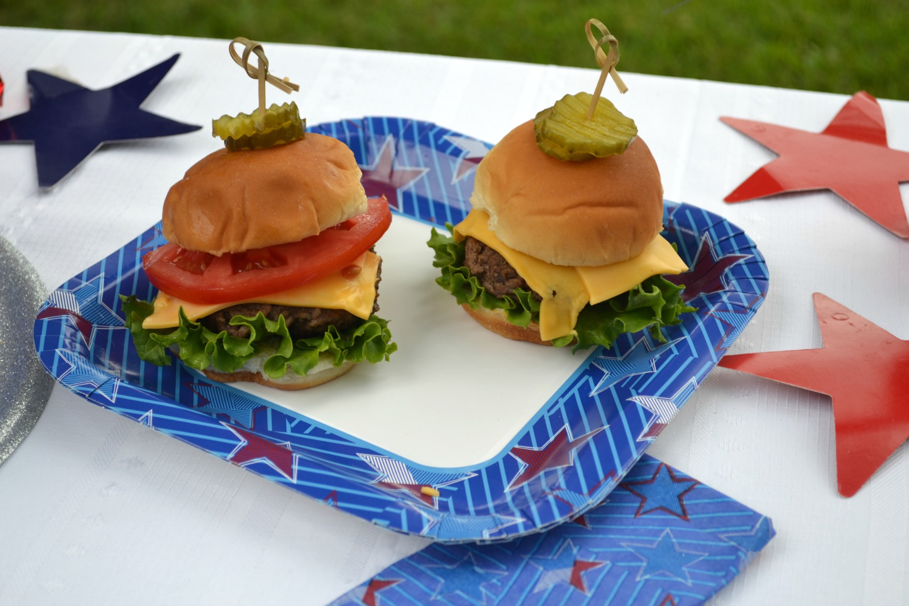 cook out foods, sliders