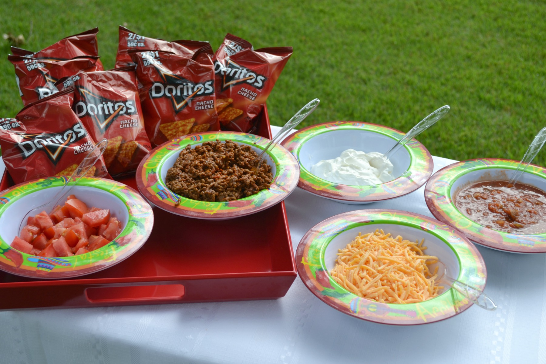 cook-out foods, taco in a bag, picnics