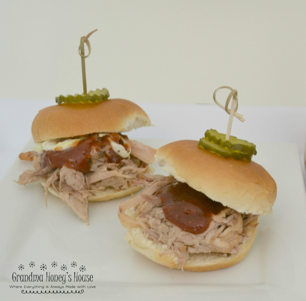 Pulled Pork Sliders are perfect for cook=outs, tailgate parties, and fundraisers