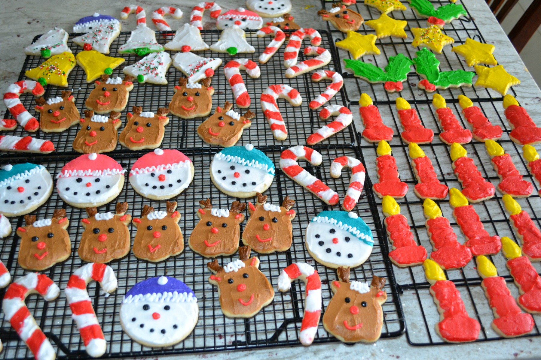decorated sugar cookies, christmas