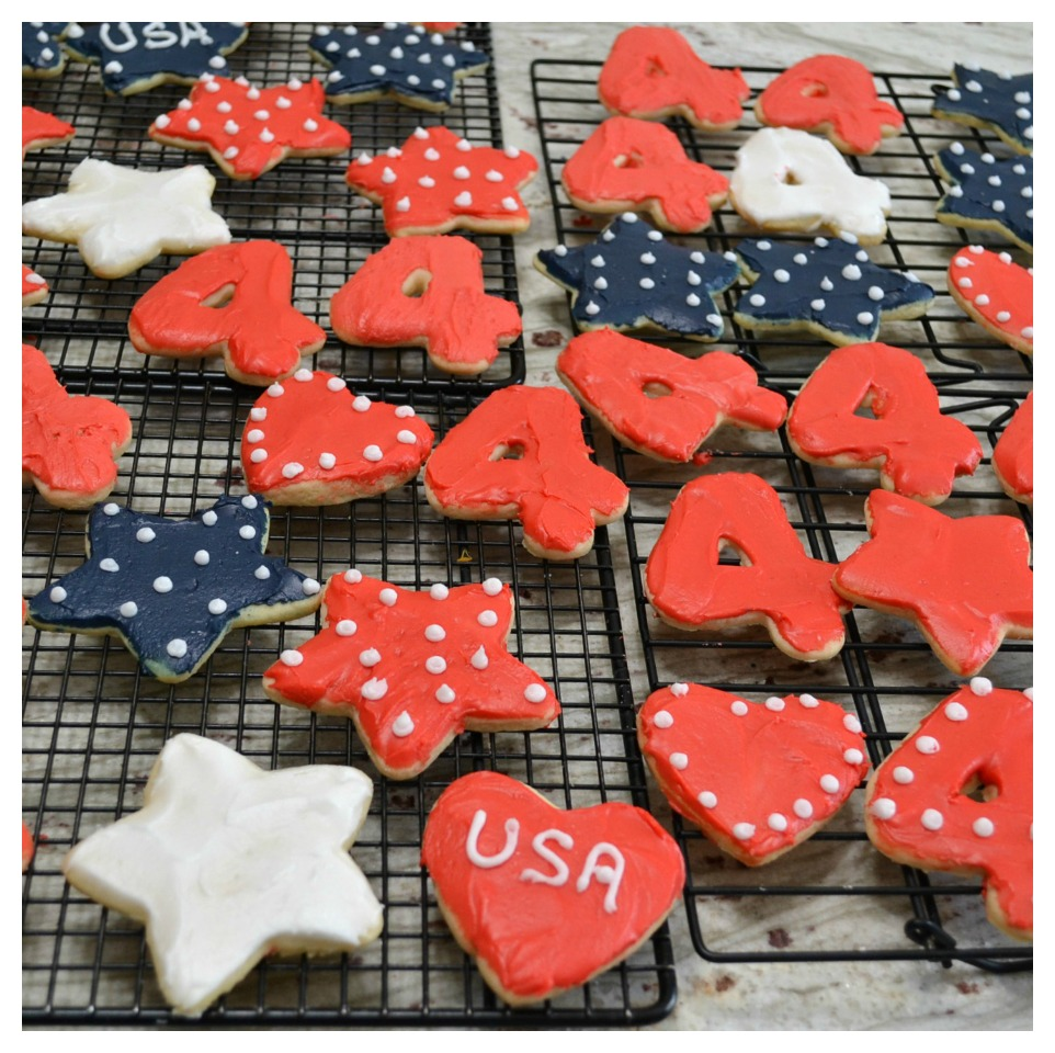 A variety of decorated sugar cookies with a 40 year old family recipe.
