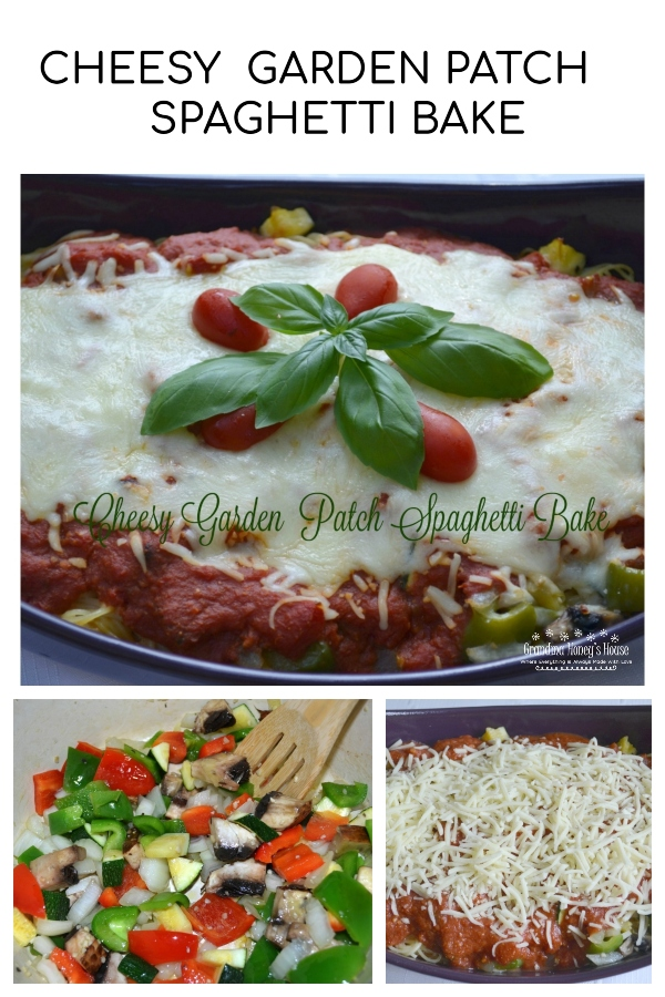 Serve Cheesy Garden Patch Spaghetti Bake with a salad and garlic breadto complete the meal.