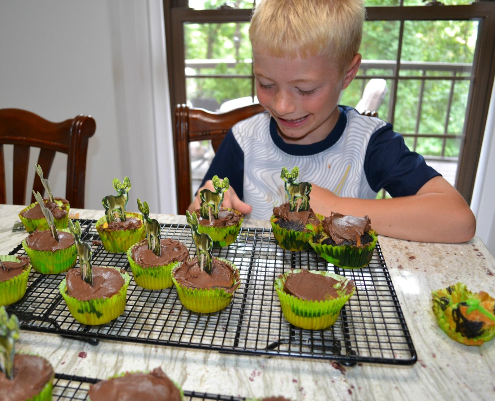 camo cupcakes, kids cooking class