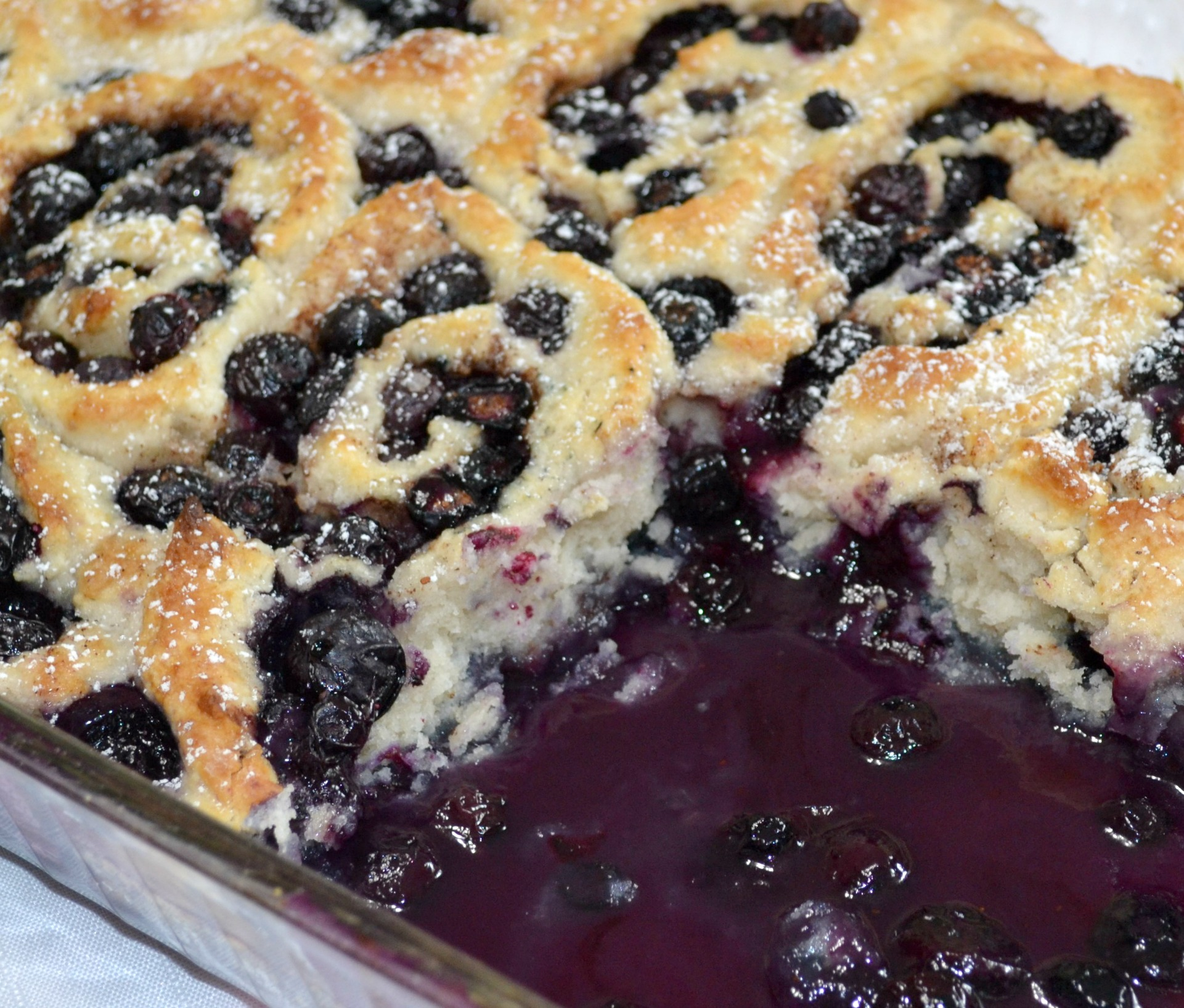dessert, cobbler, blueberries