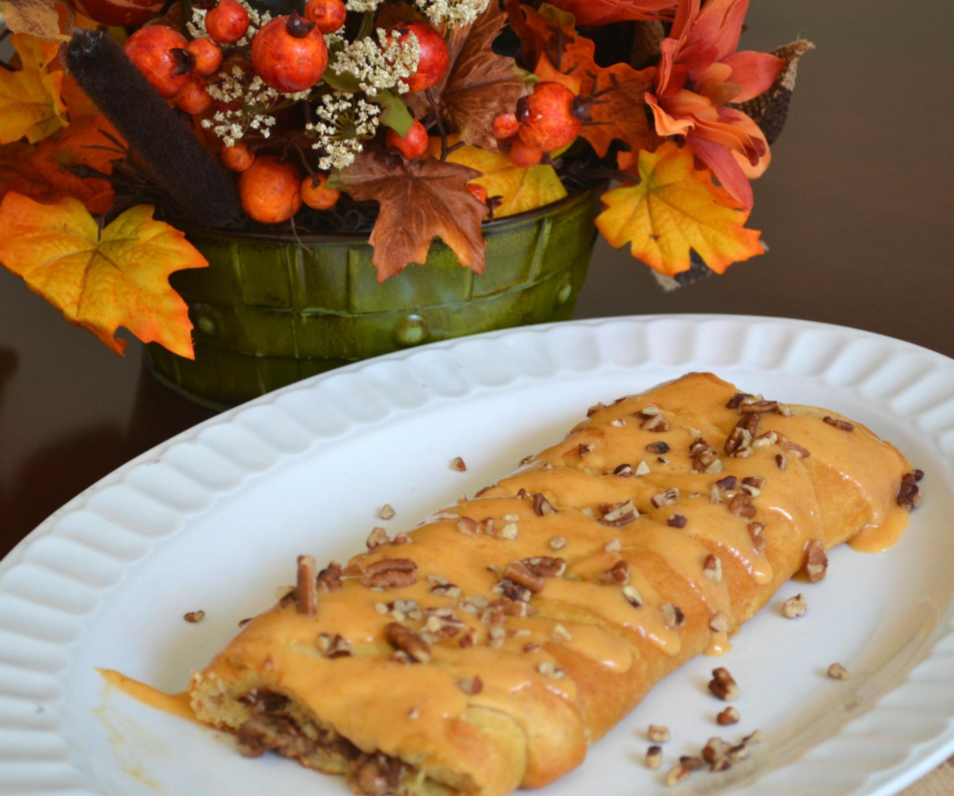 pumpkin, mascarpone, breakfast braid, fall baking