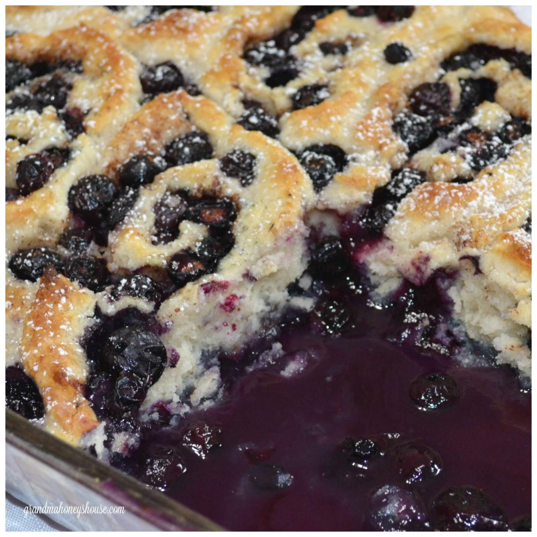rustic blueberry cobbler roll, blueberries, cobbler, dessert
