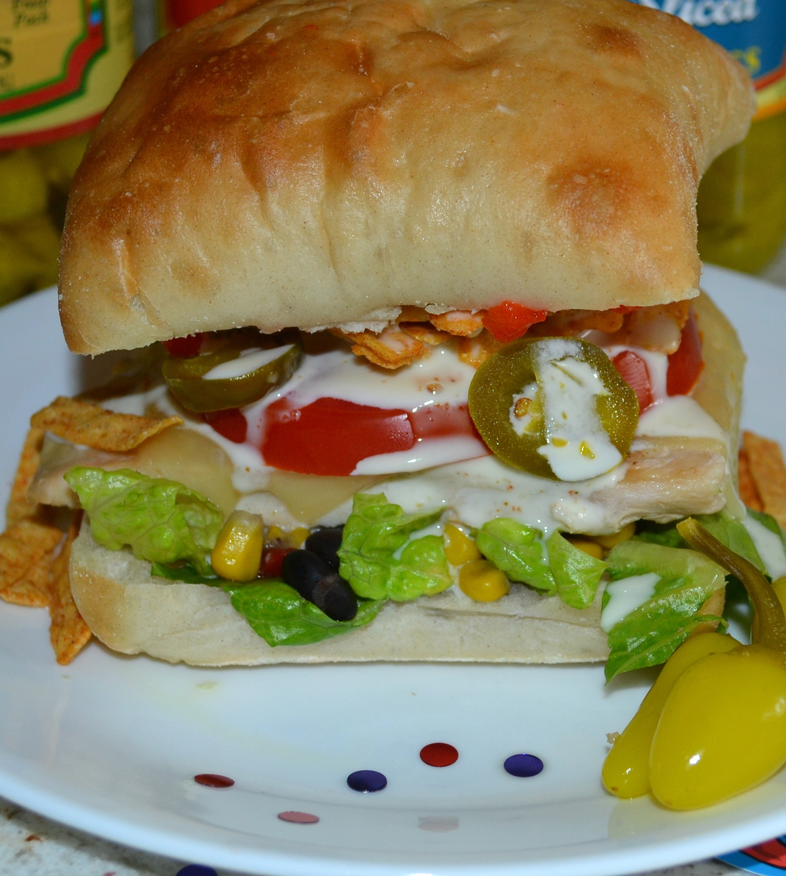 super sandwich, fiesta chicken sandwich