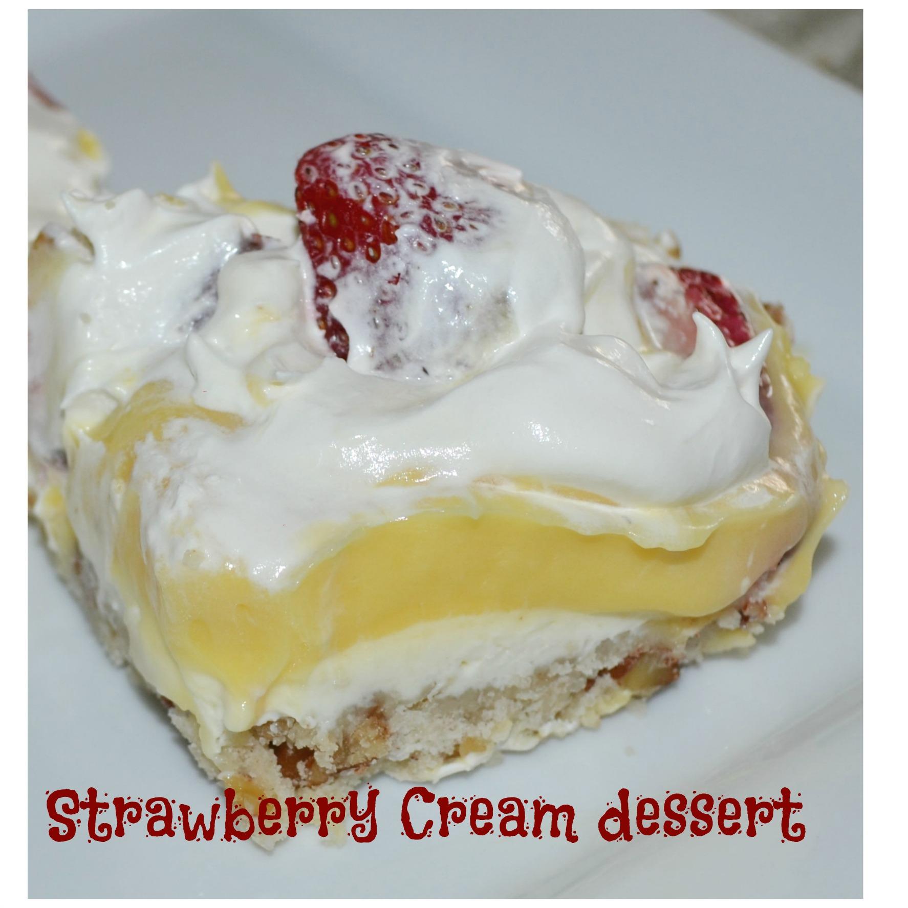 starwberry cream dessert, kids cooking class, pudding,