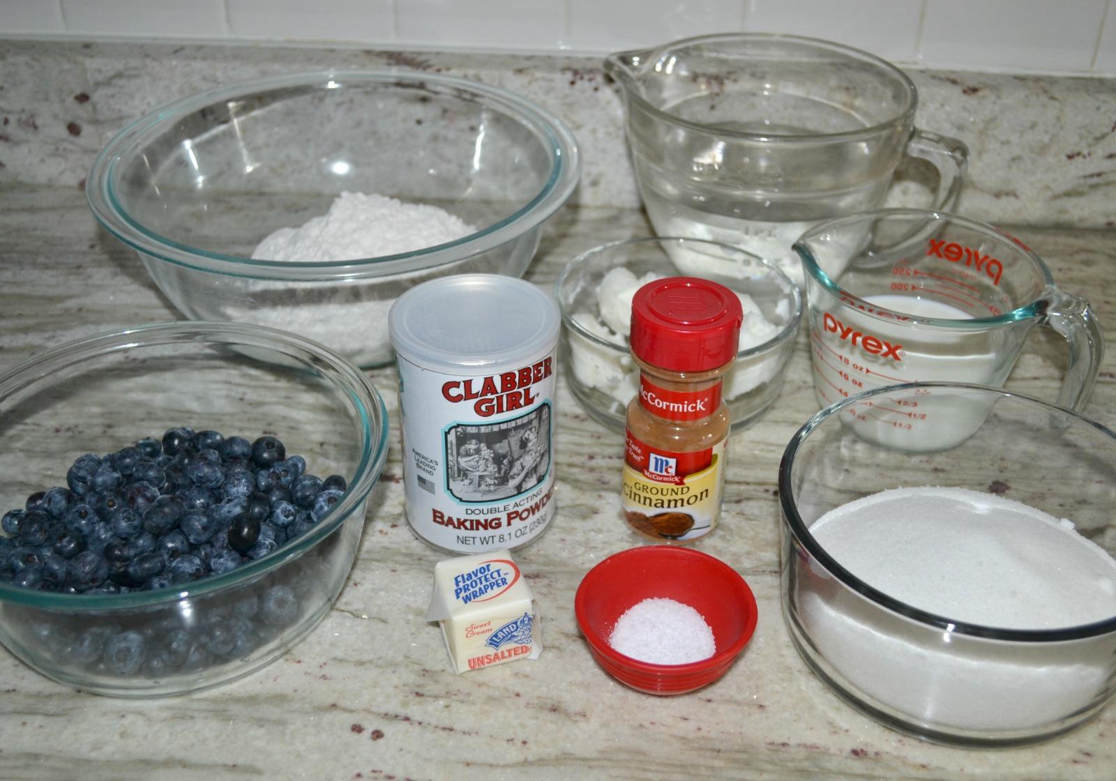 blueberries, cobbler, dessert