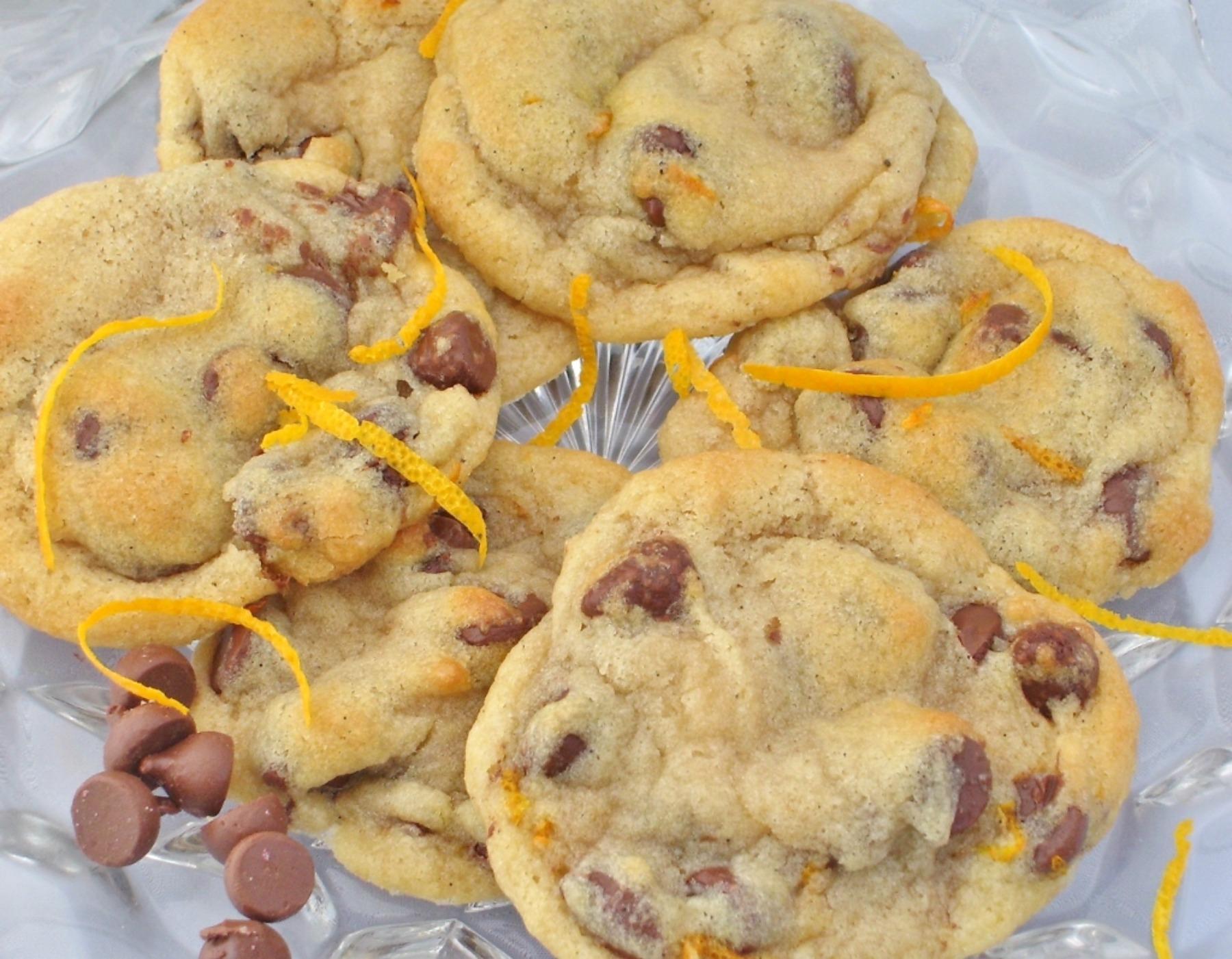 zesty orange choc chip cookies