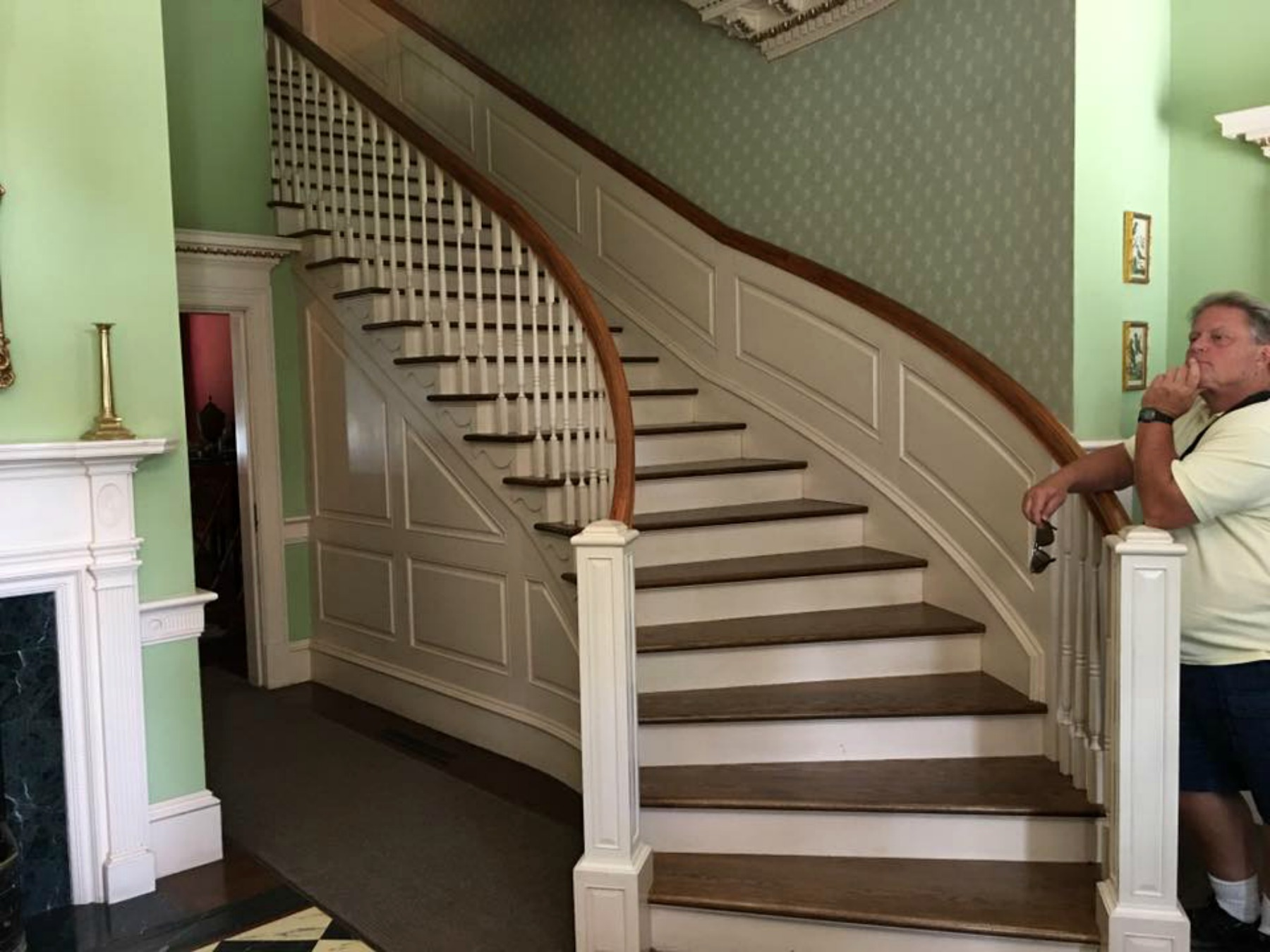 blennerhassett island, mansion tour, foyer