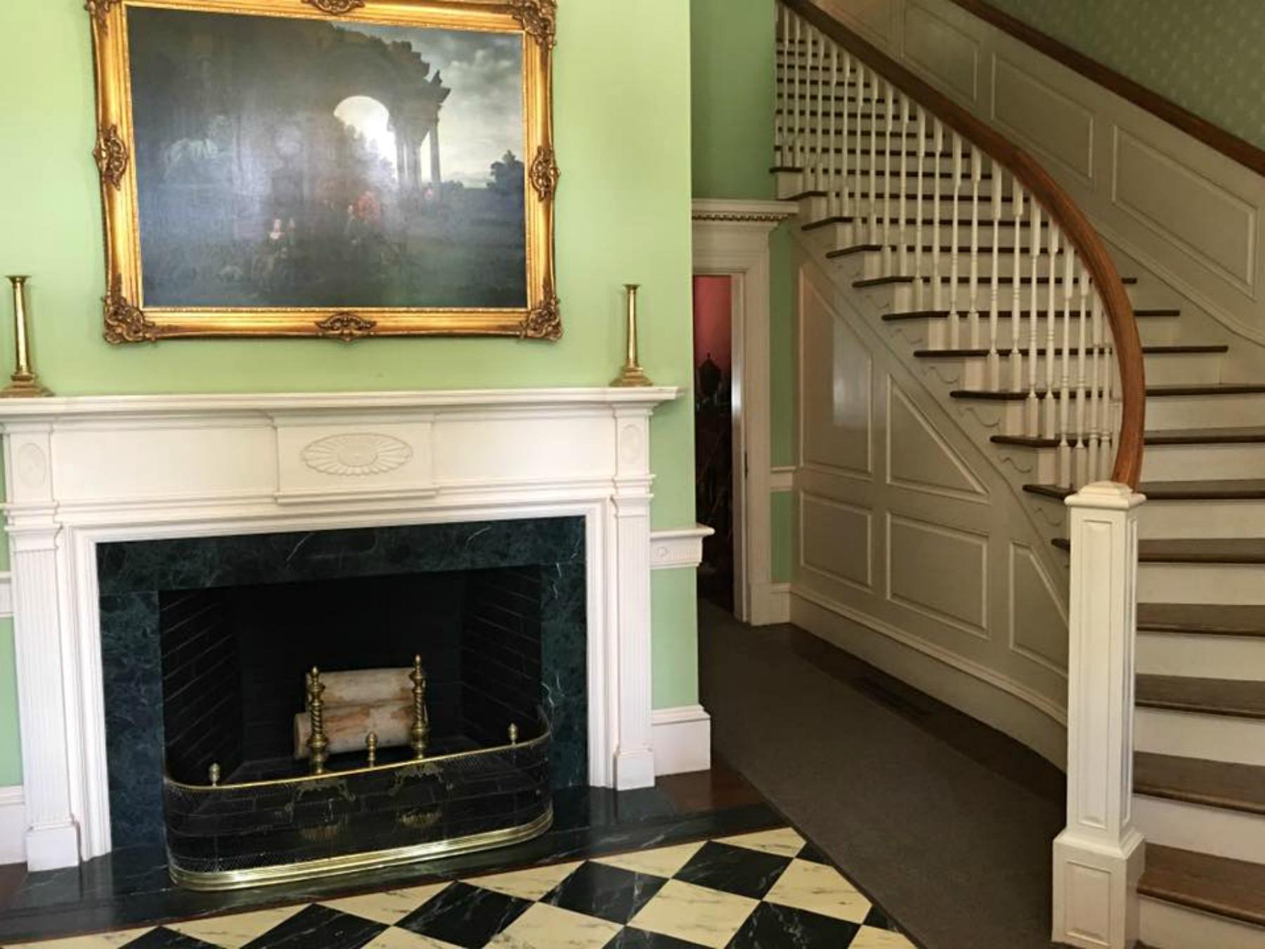 blennerhassett island, foyer, mansion tour