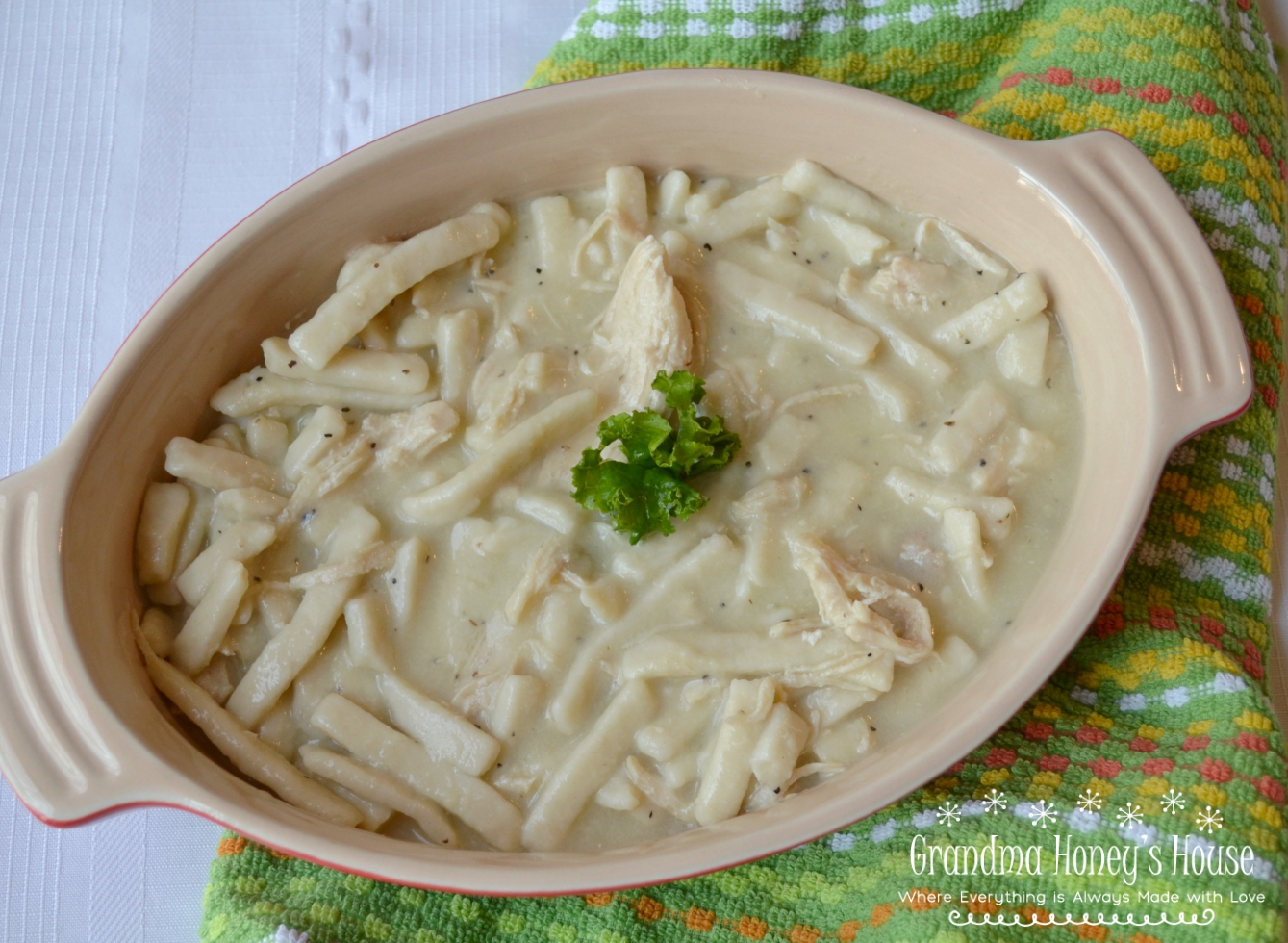 Homestyle Chicken and Noddles, old fashioned flavor with updated easy recipe.
