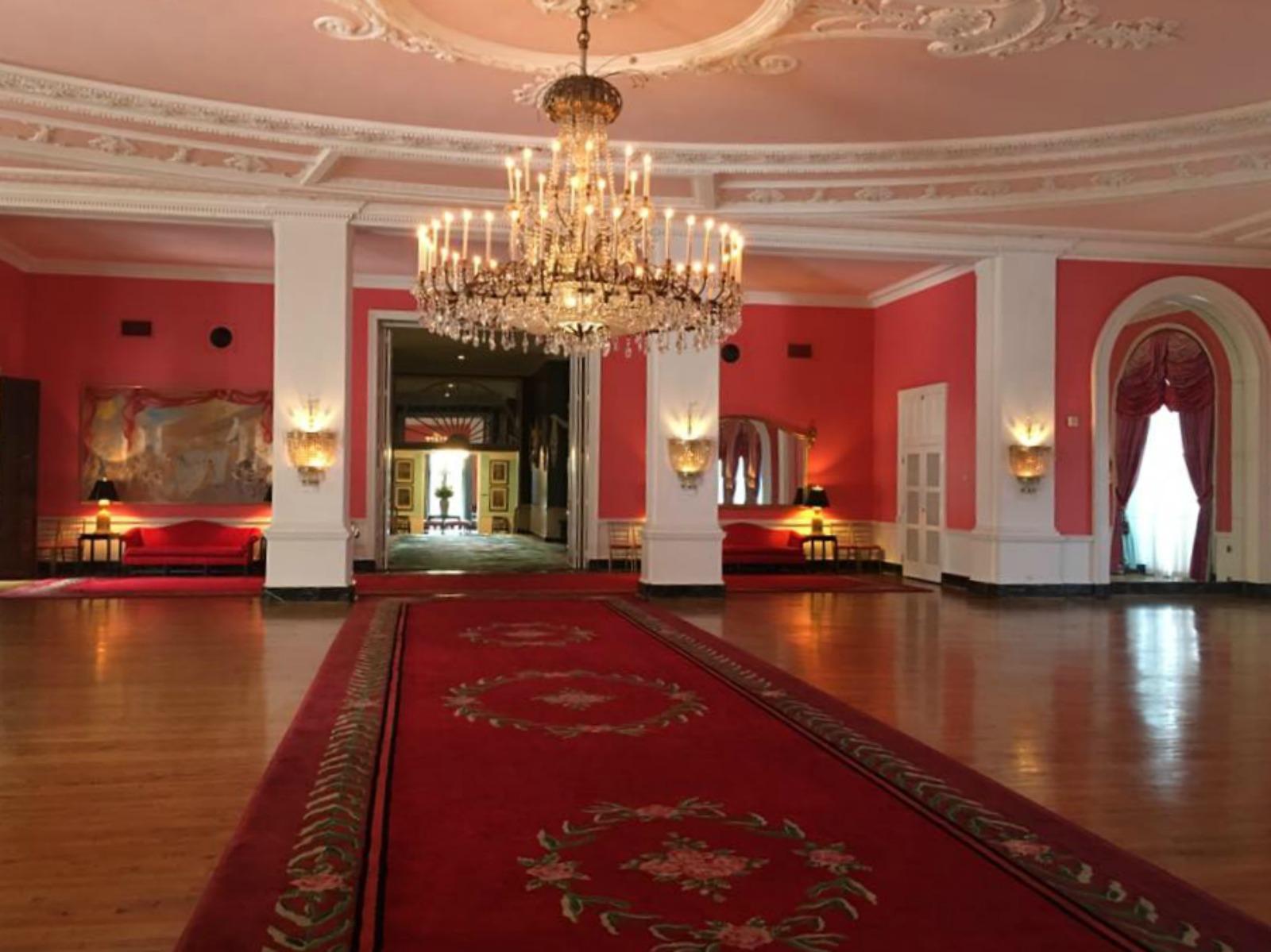 greenbrier resort, anniversary trip, ballroom