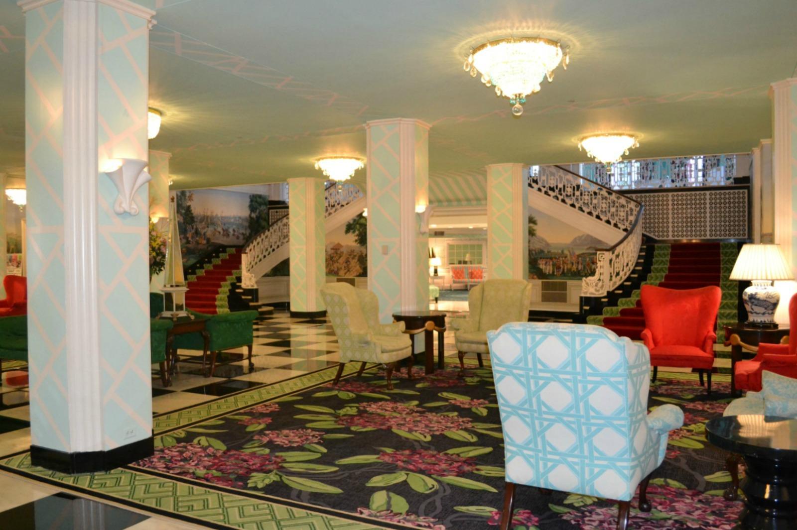 greenbrier resort, lobby, anniversary trip