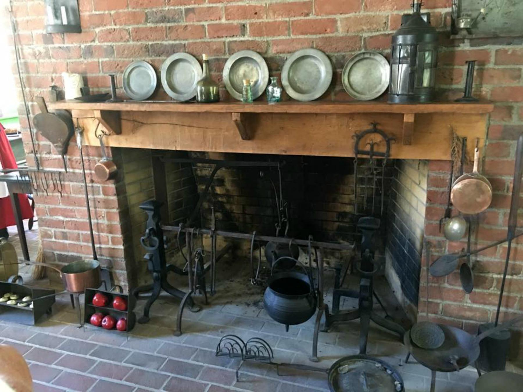 blennerhassett island, mansion tour, kitchen