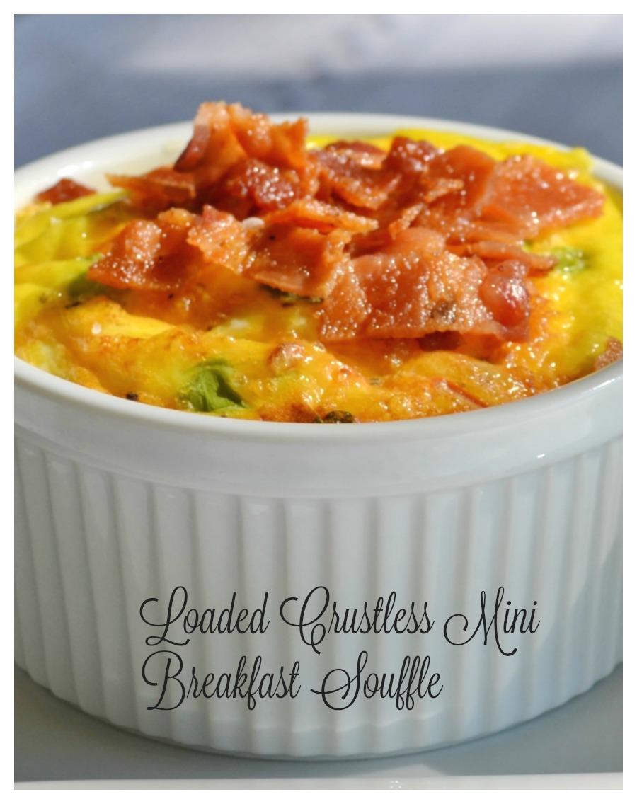 loaded breakfast mini souffle, eggs, breakfast