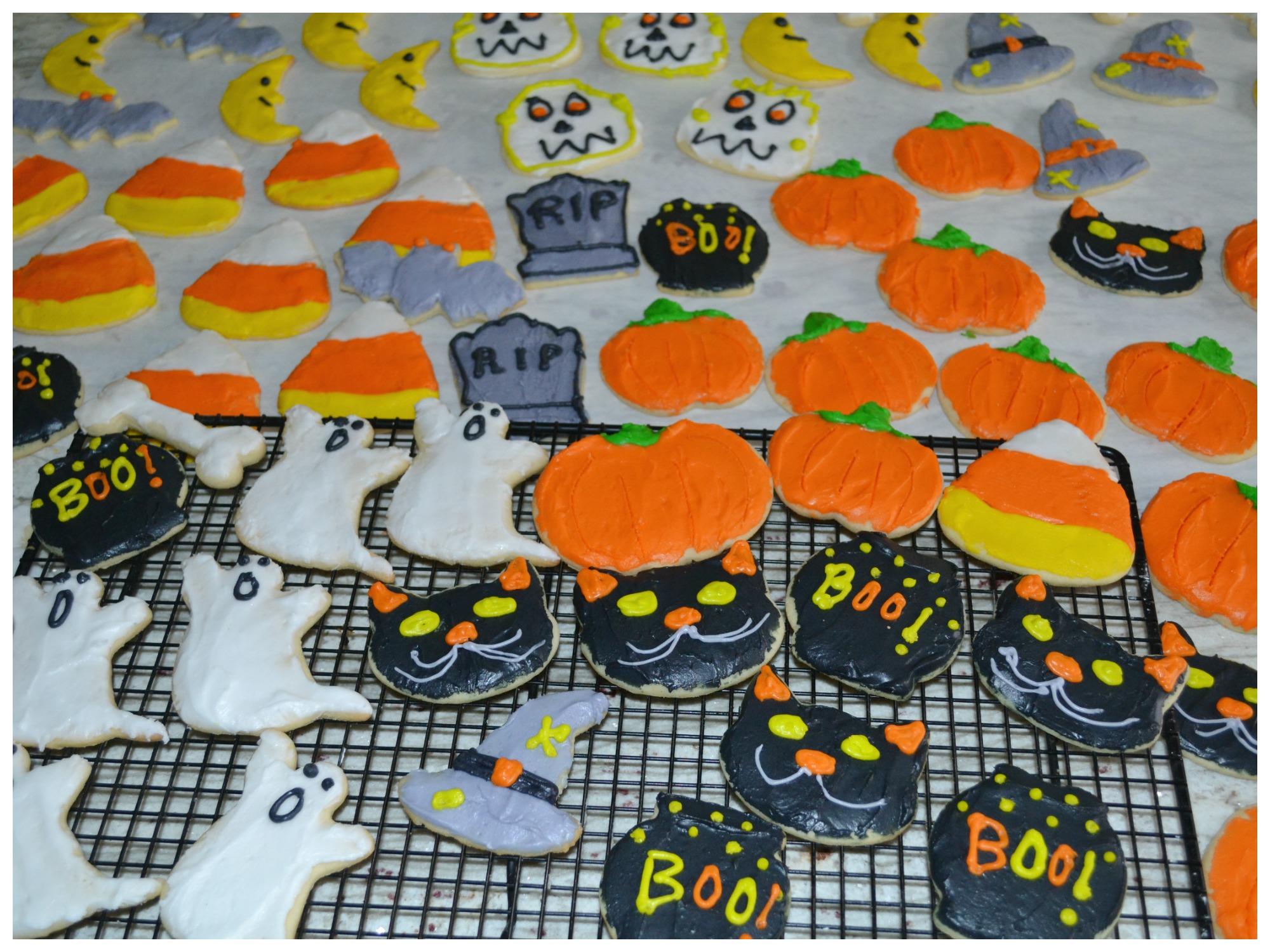 halloween party, halloween, sugar cookies