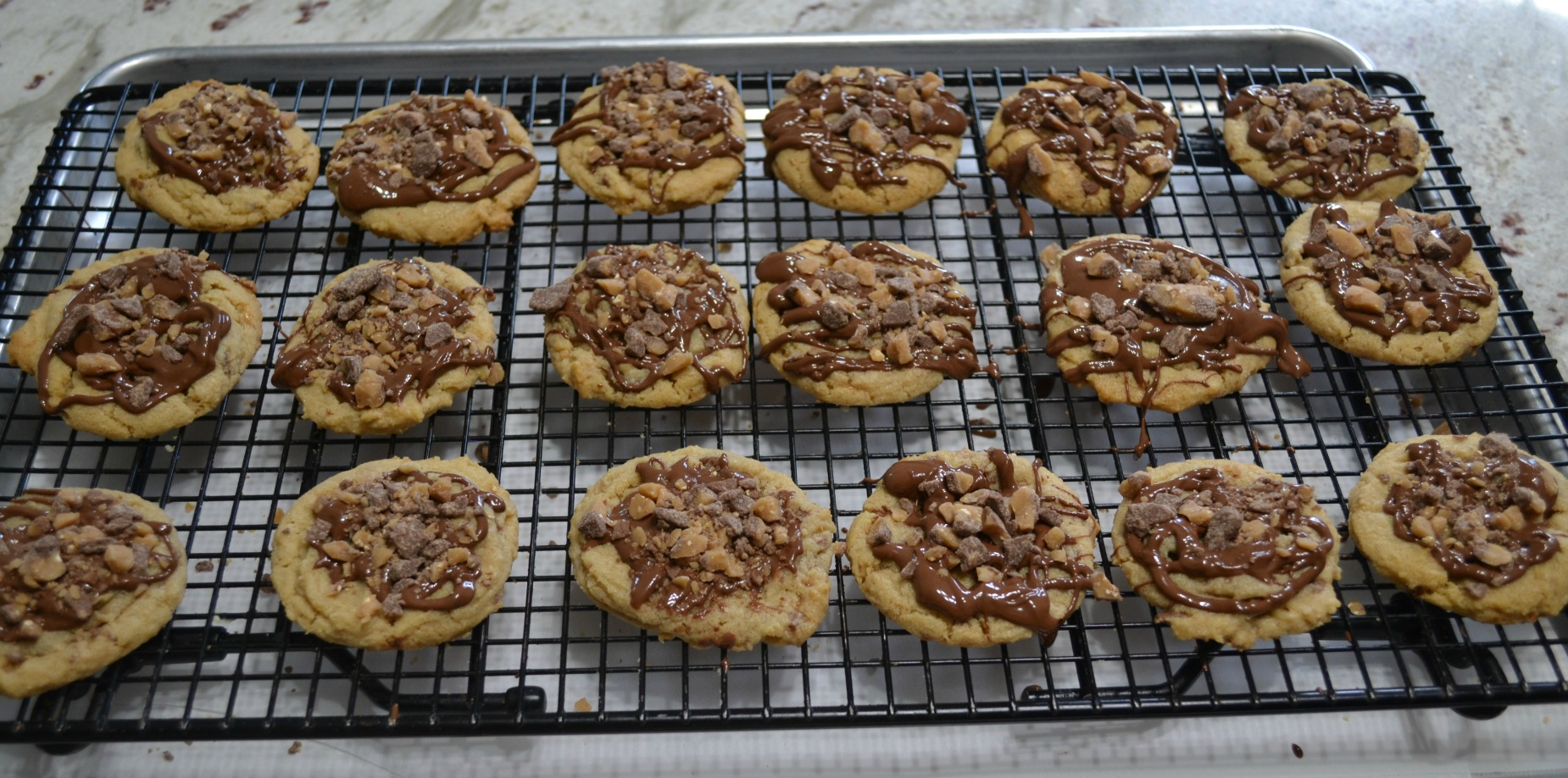 cookies, peanut butter, toffee bits, choc chips, fall baking
