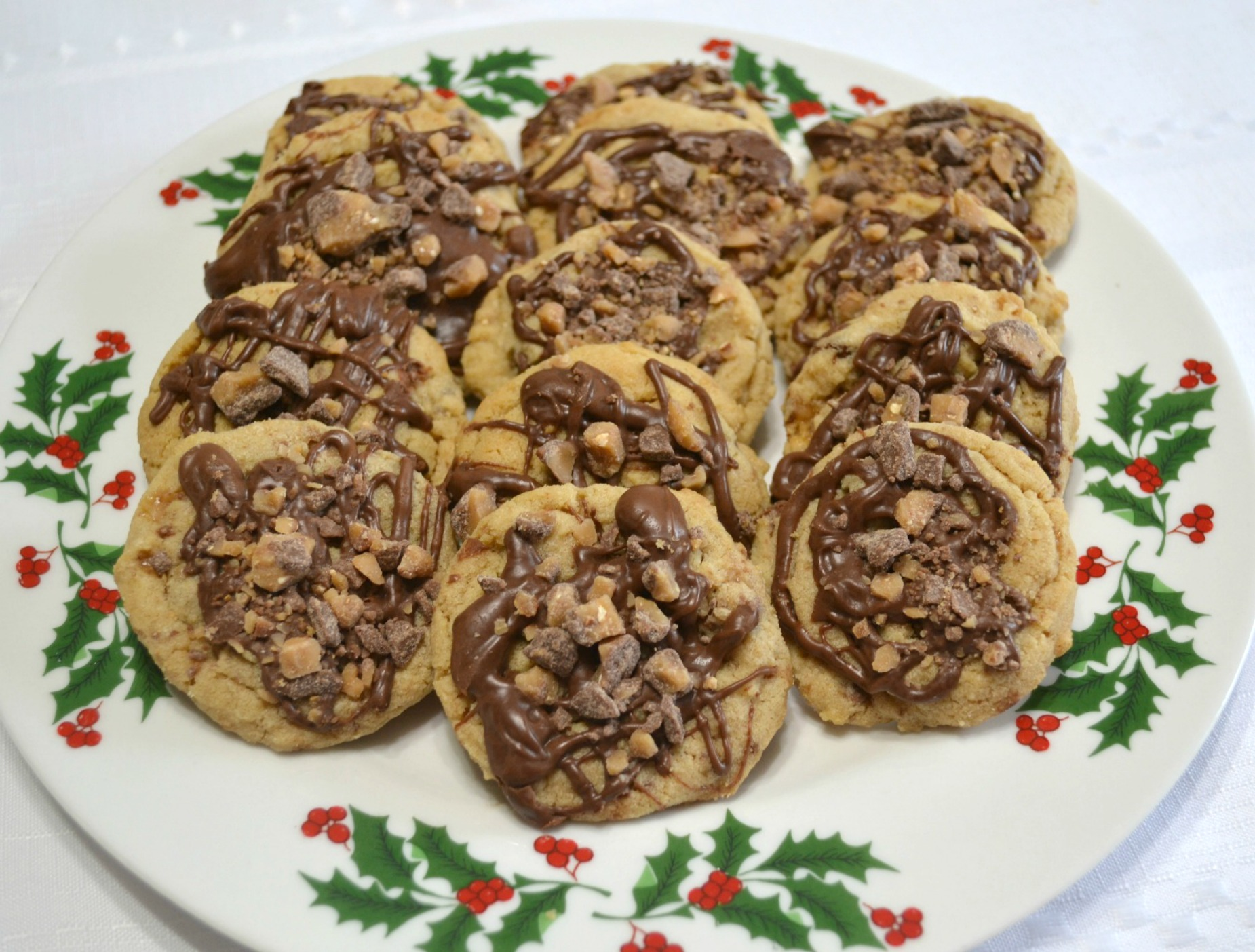 cookies, peanut butter, choc chips, toffee bits, holiday baking