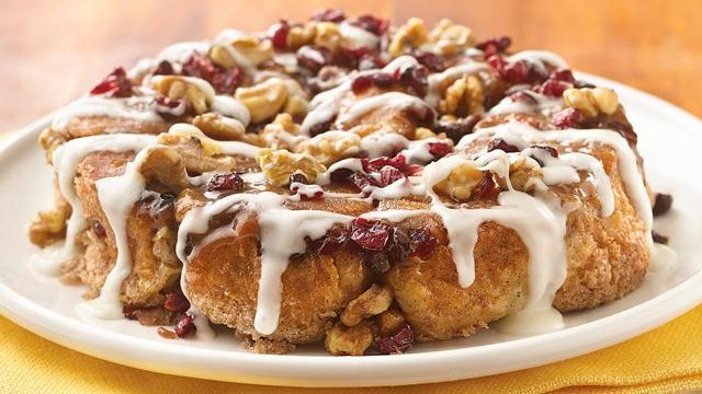 breakfast, brunch, sweet rolls